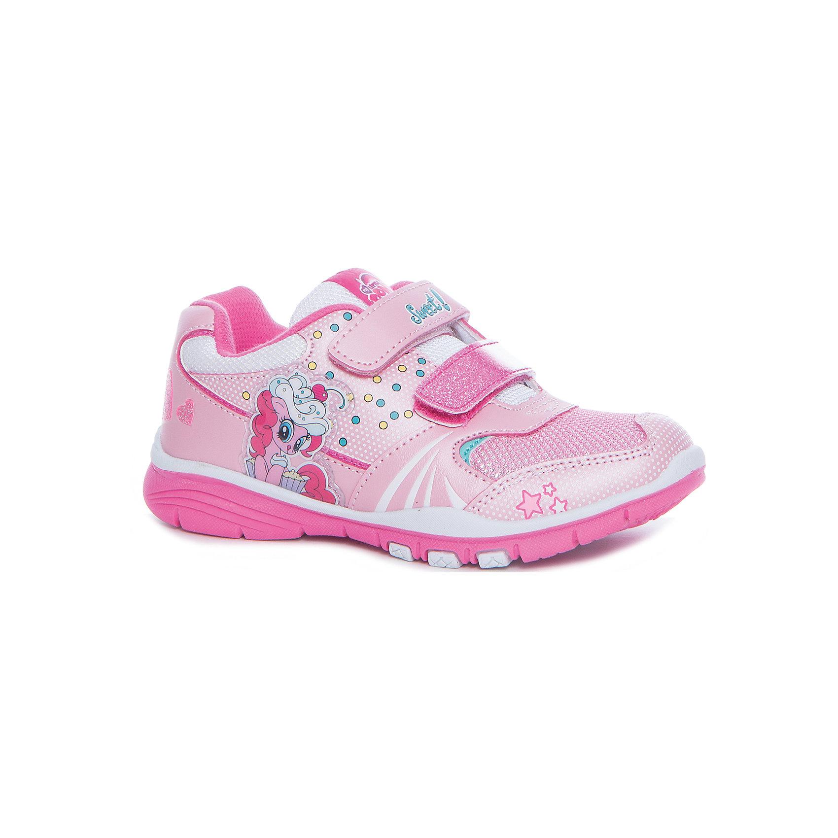 Кроссовки My Little Pony для девочки KAKADU, розовыйКроссовки<br>Характеристики товара:<br><br>• цвет: розовый<br>• принт: Мой маленький пони<br>• внешний материал обуви: искуственная кожа, текстиль<br>• внутренний материал: текстиль<br>• стелька:текстиль (съемная)<br>• подошва: ТЭП<br>• вид обуви: спортивный стиль<br>• тип застежки: на липучке<br>• сезон: весна-осень<br>• температурный режим: от +10°до +20°С<br>• страна бренда: Россия<br>• страна изготовитель: Китай<br><br>Кроссовки My Little Pony бренда Какаду будут радовать девочку во время прогулок. Они созданы из качественных сертифицированных материалов. <br><br>Подкладка из натурального хлопка обеспечивает воздухообмен и комфортный микроклимат вне зависимости от погоды. Подошва из термопластичной резины кроме хорошей амортизации обладает влагоотталкивающими свойствами.<br><br>Кроссовки для девочек KAKADU можно купить в нашем интернет-магазине.<br><br>Ширина мм: 262<br>Глубина мм: 176<br>Высота мм: 97<br>Вес г: 427<br>Цвет: фиолетовый<br>Возраст от месяцев: 72<br>Возраст до месяцев: 84<br>Пол: Женский<br>Возраст: Детский<br>Размер: 29,30,25,26,27,28<br>SKU: 5562964