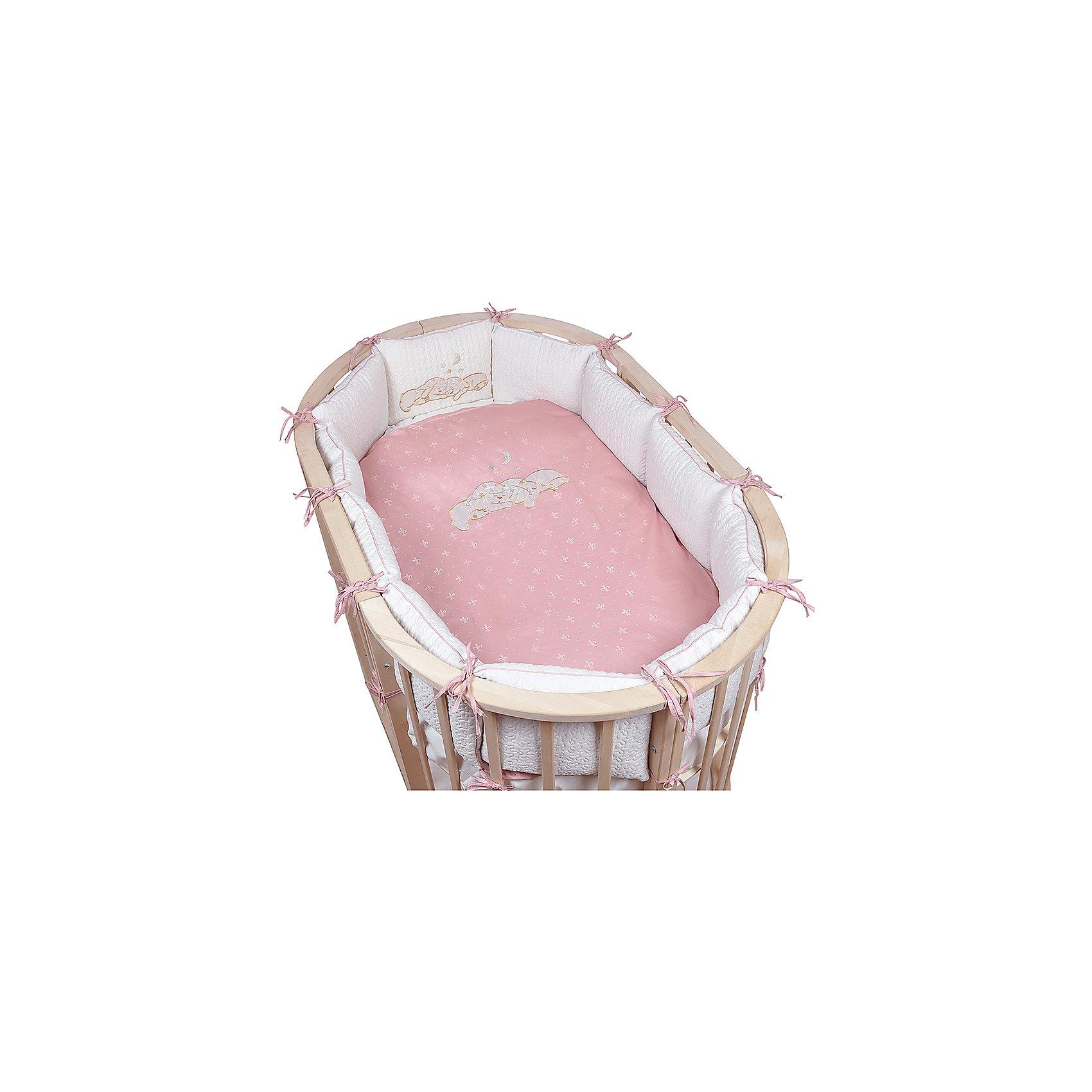 Постельное белье для овальной кроватки Звездочка, 6 пред., Pituso, розовыйПостельное бельё<br>Характеристики товара:<br><br>• возраст с рождения;<br>• материал: бязь, хлопок;<br>• бортик в кроватку из 4 частей 120х60 см<br>• пододеяльник 147х112 см<br>• наволочка 60х40 см<br>• простыня на резинке 100х150 см, одеяло 140х110 см, подушка 60х40 см;<br>• размер упаковки 59х45х28 см;<br>• вес упаковки 3,6 кг;<br>• страна производитель: Россия.<br><br>Постельное белье для овальной кроватки Звездочка Pituso розовое обеспечит крохе уют и спокойный сон. Наполнитель является экологическим и безопасным для детей, он пропускает воздух, не вызывает аллергических реакций, в нем не заводятся вредные микроорганизмы. Изготовлен комплект из натурального мягкого хлопка, который легко стирается, не теряет цвет.<br><br>Постельное белье для овальной кроватки Звездочка Pituso розовое 6 предметов можно приобрести в нашем интернет-магазине.<br><br>Ширина мм: 590<br>Глубина мм: 450<br>Высота мм: 280<br>Вес г: 3600<br>Возраст от месяцев: 0<br>Возраст до месяцев: 36<br>Пол: Унисекс<br>Возраст: Детский<br>SKU: 5563664