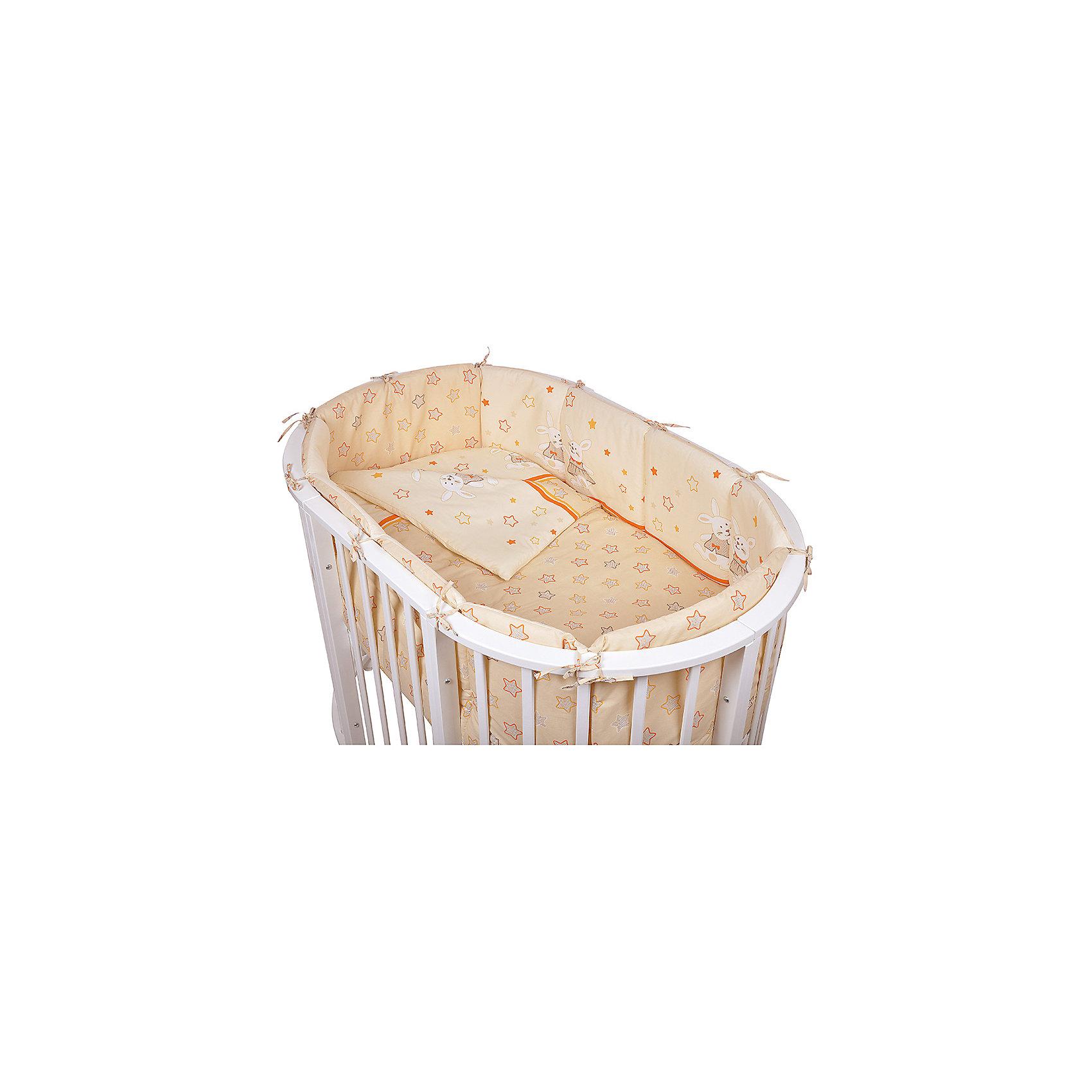 Постельное белье для овальной кроватки Зайки, 6 пред., Pituso, кремовыйПостельное бельё<br>Характеристики товара:<br><br>• возраст с рождения;<br>• материал: бязь, хлопок;<br>• бортик в кроватку из 4 частей 120х60 см<br>• пододеяльник 147х112 см<br>• наволочка 60х40 см<br>• простыня на резинке 100х150 см<br>• одеяло 140х110 см<br>• подушка 60х40 см;<br>• размер упаковки 59х45х28 см;<br>• вес упаковки 2,8 кг;<br>• страна производитель: Россия.<br><br>Постельное белье для овальной кроватки Зайки Pituso кремовое обеспечит крохе уют и спокойный сон. Наполнитель является экологическим и безопасным для детей, он пропускает воздух, не вызывает аллергических реакций, в нем не заводятся вредные микроорганизмы. Изготовлен комплект из натурального мягкого хлопка, который легко стирается, не теряет цвет.<br><br>Постельное белье для овальной кроватки Зайки Pituso кремовое 6 предметов можно приобрести в нашем интернет-магазине.<br><br>Ширина мм: 590<br>Глубина мм: 450<br>Высота мм: 280<br>Вес г: 2800<br>Возраст от месяцев: 0<br>Возраст до месяцев: 36<br>Пол: Унисекс<br>Возраст: Детский<br>SKU: 5563666