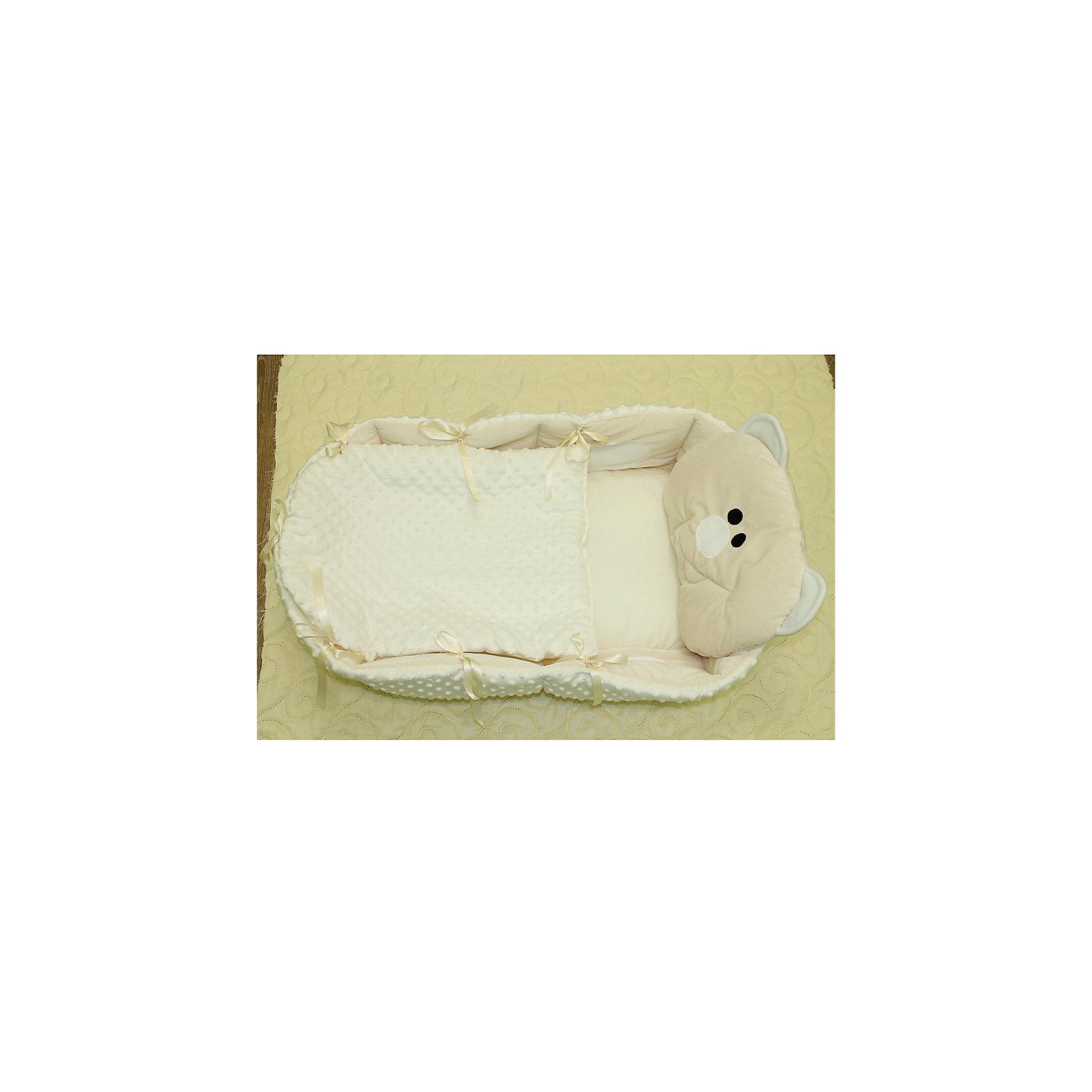 Гнездышко, Балу, розовыйПозиционеры для сна<br>Характеристики товара:<br><br>• возраст с рождения;<br>• материал: хлопок, вельбоа, холлофайбер;<br>• размер подушки 84х45 см;<br>• высота бортиков 15 см;<br>• размер упаковки 45х40х15 см;<br>• вес упаковки 850 гр.;<br>• страна производитель: Россия.<br><br>Гнездышко Балу розовое обеспечит крохе уютный и спокойный сон. Оно представляет собой овальную кроватку с высокими бортиками и мягкой подушечкой. Внутренняя часть сделана из мягкого натурального хлопка, не вызывающего аллергических реакций. <br><br>Гнёздышко Балу розовое можно приобрести в нашем интернет-магазине.<br><br>Ширина мм: 450<br>Глубина мм: 400<br>Высота мм: 150<br>Вес г: 850<br>Возраст от месяцев: 0<br>Возраст до месяцев: 36<br>Пол: Унисекс<br>Возраст: Детский<br>SKU: 5563670