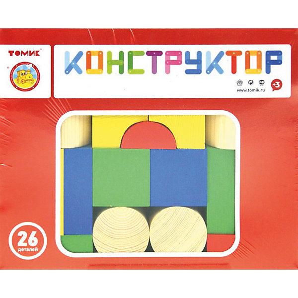 Деревянный конструктор Томик Цветной, 26 деталейДеревянные конструкторы<br>Характеристики:<br><br>• возраст: от 3 лет<br>• количество деталей: 26 шт.<br>• материал: дерево<br>• упаковка: картонная коробка блистерного типа<br>• размер упаковки: 21х17х4 см.<br>• вес: 645 гр.<br><br>Конструктор представлен набором деревянных фигурок, благодаря которым малыш сможет построить замок, домик или другие архитектурные сооружения. В процессе увлекательной игры, ребёнок познакомится с различными объёмными фигурами, основными цветами, и потренирует координацию движений, моторику рук и пространственное воображение.<br><br>Элементы конструктора окрашены специальными красками, которые не поблекнут и не сотрутся со временем, используемые красители нетоксичны и гипоаллергенны. Края и грани деталей конструктора тщательно отшлифованы, имеют гладкую поверхность.<br><br>Конструктор ТОМИК 6678-26 Цветной 26 дет можно купить в нашем интернет-магазине.<br>Ширина мм: 210; Глубина мм: 170; Высота мм: 40; Вес г: 645; Возраст от месяцев: 36; Возраст до месяцев: 2147483647; Пол: Унисекс; Возраст: Детский; SKU: 5565980;