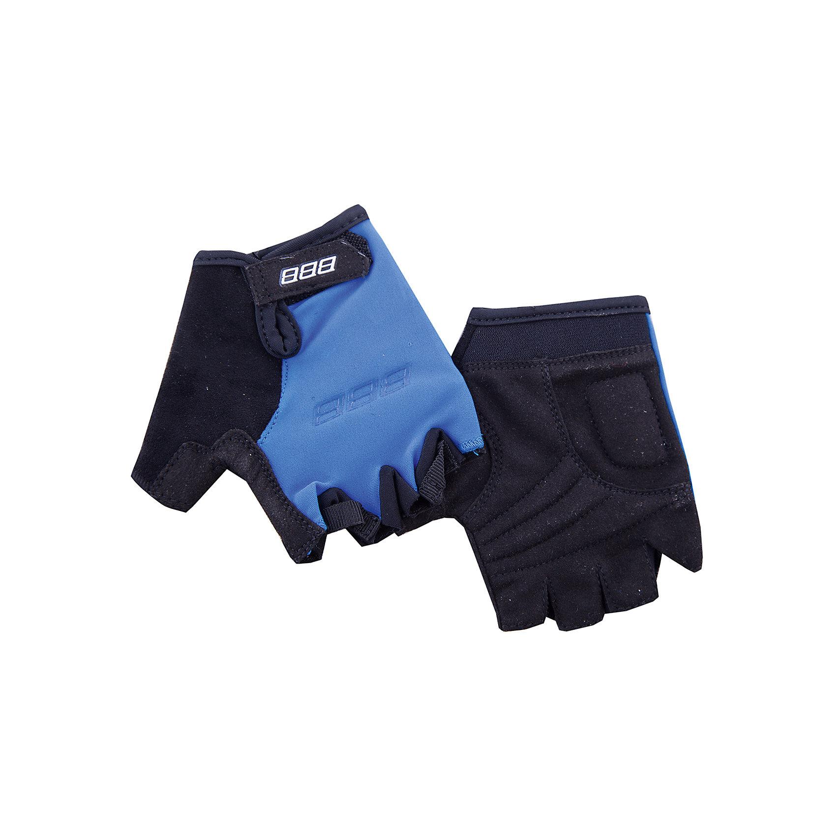 Перчатки велосипедные, BBBАксеcсуары для велосипедов<br>Характеристики товара:<br><br>• возраст от 3 лет;<br>• материал: лайкра, спандекс;<br>• размер упаковки 23х12х3 см;<br>• вес упаковки 90 гр.;<br>• страна производитель: Пакистан.<br><br>Перчатки велосипедные ВВВ голубые разработаны специально для детских рук. Во время езды на велосипеде они защищают руки от повреждения, а также препятствуют соскальзыванию ладоней с руля. Верхняя часть перчаток выполнена из дышащей лайкры. Ладони сделаны из износостойкого материала Amara с подкладкой из вспененного материала. 2 петли между пальцами облегчают снятие перчаток. Застежки системы Wristlock надежно фиксируют перчатки на руках во время движения.<br><br>Перчатки велосипедные ВВВ голубые можно приобрести в нашем интернет-магазине.<br><br>Ширина мм: 230<br>Глубина мм: 120<br>Высота мм: 30<br>Вес г: 90<br>Цвет: синий<br>Возраст от месяцев: 120<br>Возраст до месяцев: 144<br>Пол: Унисекс<br>Возраст: Детский<br>Размер: 6,3,4,5<br>SKU: 5565991