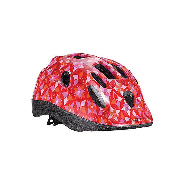 Летний шлем Boogy самый милый, BBBЗащита, шлемы<br>Характеристики товара:<br><br>• возраст от 3 лет;<br>• материал: ударопрочный пластик;<br>• 12 вентиляционных отверстий<br>• светоотражающие эелементы сзади<br>• размер упаковки 27х24х18 см;<br>• вес упаковки 500 гр.;<br>• страна производитель: Китай.<br><br>Летний шлем Boogy Самый милый ВВВ надежно защитит голову во время падения при езде на велосипеде. Ремешки шлема настраиваются индивидуально для комфортной посадки. 12 вентиляционных отверстий на корпусе обеспечивают хороший воздухообмен. Сетка в вентиляционных отверстиях защищает от насекомых. Мягкие накладки обладают антибактериальными свойствами, а также по мере необходимости снимаются для стирки. На задней части шлема расположены светоотражающие элементы для видимости в темное время суток. Шлем выполнен из ударопрочного материала.<br><br>Летний шлем Boogy Самый милый ВВВ можно приобрести в нашем интернет-магазине.<br><br>Ширина мм: 270<br>Глубина мм: 240<br>Высота мм: 180<br>Вес г: 500<br>Цвет: rosa/rot<br>Возраст от месяцев: 96<br>Возраст до месяцев: 144<br>Пол: Женский<br>Возраст: Детский<br>Размер: 52-56,48-54<br>SKU: 5565999