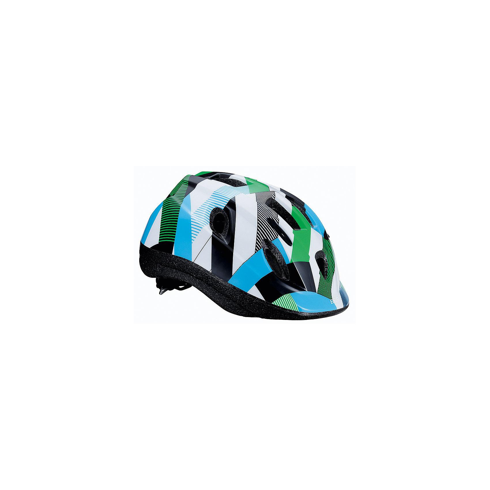 Летний шлем Boogy камуфляж зеленый, BBBЗащита, шлемы<br>Характеристики товара:<br><br>• возраст от 3 лет;<br>• материал: ударопрочный пластик;<br>• 12 вентиляционных отверстий<br>• светоотражающие элементы сзади<br>• размер упаковки 27х24х18 см;<br>• вес упаковки 500 гр.;<br>• страна производитель: Китай.<br><br>Летний шлем Boogy Камуфляж зеленый ВВВ надежно защитит голову во время падения при езде на велосипеде. Ремешки шлема настраиваются индивидуально для комфортной посадки. 12 вентиляционных отверстий на корпусе обеспечивают хороший воздухообмен. Сетка в вентиляционных отверстиях защищает от насекомых. Мягкие накладки обладают антибактериальными свойствами, а также по мере необходимости снимаются для стирки. На задней части шлема расположены светоотражающие элементы для видимости в темное время суток. Шлем выполнен из ударопрочного материала.<br><br>Летний шлем Boogy Камуфляж зеленый ВВВ можно приобрести в нашем интернет-магазине.<br><br>Ширина мм: 270<br>Глубина мм: 240<br>Высота мм: 180<br>Вес г: 500<br>Цвет: зеленый<br>Возраст от месяцев: 96<br>Возраст до месяцев: 144<br>Пол: Унисекс<br>Возраст: Детский<br>Размер: 52-56,48-54<br>SKU: 5566008