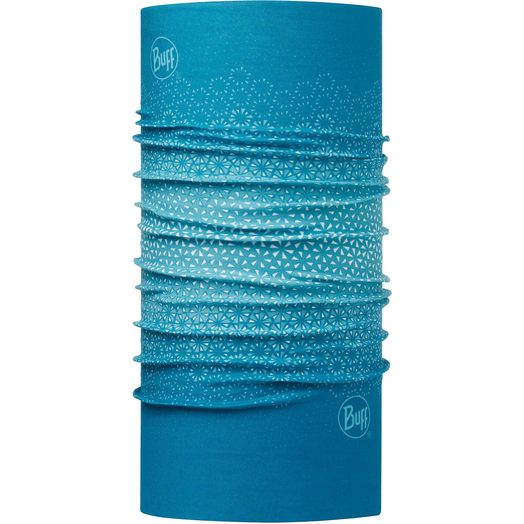 Бандана BUFFГоловные уборы<br>Бандана BUFF <br>Бесшовная бандана-труба из специальной серии Original BUFF. Original BUFF - самый популярный универсальный головной убор из всех серий. <br><br>Сделан из микрофибры - защищает от ветра, пыли, влаги и ультрафиолета. Контролирует микроклимат в холодную и теплую погоду, отводит влагу. Ткань обработана ионами серебра, обеспечивающими длительный антибактериальный эффект и предотвращающими появление запаха. Допускается машинная и ручная стирка при 30-40градусах. Материал не теряет цвет и эластичность, не требует глажки. <br><br>Original BUFF можно носить на шее и на голове, как шейный платок, маску, бандану, шапку и подшлемник. <br><br>Свойства материала позволяют использовать бандану Original BUFF в любое время года, при занятиях любым видом спорта, активного отдыха, туризма или рыбалки.<br>Состав:<br>Полиэстер 100%<br><br>Ширина мм: 89<br>Глубина мм: 117<br>Высота мм: 44<br>Вес г: 155<br>Цвет: синий<br>Возраст от месяцев: 84<br>Возраст до месяцев: 1188<br>Пол: Унисекс<br>Возраст: Детский<br>Размер: one size<br>SKU: 5568567