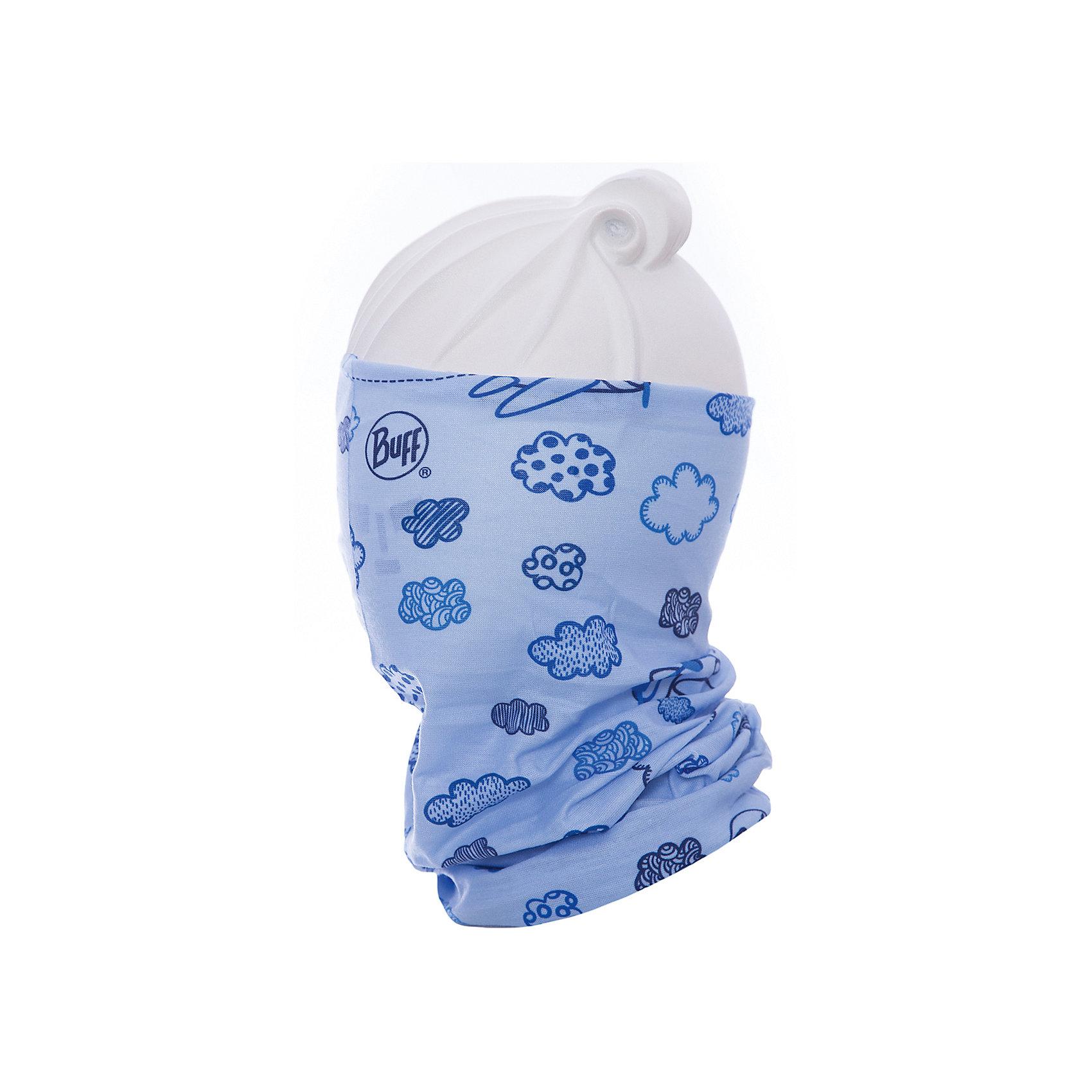 Бандана BUFFГоловные уборы<br>Бандана BUFF <br>Бесшовная бандана-труба из специальной серии Original BUFF. Original BUFF - самый популярный универсальный головной убор из всех серий. <br><br>Сделан из микрофибры - защищает от ветра, пыли, влаги и ультрафиолета. Контролирует микроклимат в холодную и теплую погоду, отводит влагу. Ткань обработана ионами серебра, обеспечивающими длительный антибактериальный эффект и предотвращающими появление запаха. Допускается машинная и ручная стирка при 30-40градусах. Материал не теряет цвет и эластичность, не требует глажки. <br><br>Original BUFF можно носить на шее и на голове, как шейный платок, маску, бандану, шапку и подшлемник. <br><br>Свойства материала позволяют использовать бандану Original BUFF в любое время года, при занятиях любым видом спорта, активного отдыха, туризма или рыбалки.<br>Состав:<br>Полиэстер 100%<br><br>Ширина мм: 89<br>Глубина мм: 117<br>Высота мм: 44<br>Вес г: 155<br>Цвет: голубой<br>Возраст от месяцев: 84<br>Возраст до месяцев: 1188<br>Пол: Унисекс<br>Возраст: Детский<br>Размер: one size<br>SKU: 5568613