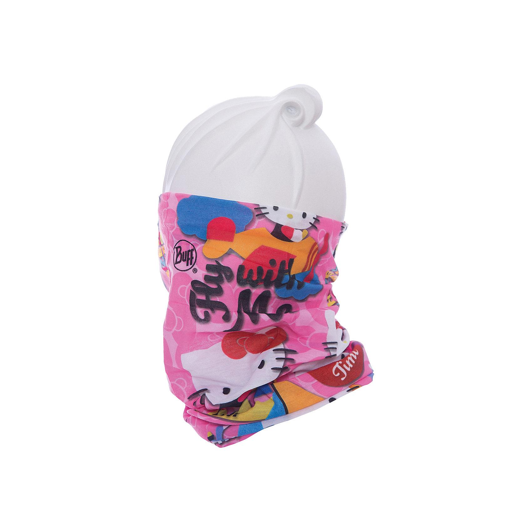 Бандана BUFFГоловные уборы<br>Бандана BUFF <br>Бесшовная бандана-труба из специальной серии Original BUFF. Original BUFF - самый популярный универсальный головной убор из всех серий. <br><br>Сделан из микрофибры - защищает от ветра, пыли, влаги и ультрафиолета. Контролирует микроклимат в холодную и теплую погоду, отводит влагу. Ткань обработана ионами серебра, обеспечивающими длительный антибактериальный эффект и предотвращающими появление запаха. Допускается машинная и ручная стирка при 30-40градусах. Материал не теряет цвет и эластичность, не требует глажки. <br><br>Original BUFF можно носить на шее и на голове, как шейный платок, маску, бандану, шапку и подшлемник. <br><br>Свойства материала позволяют использовать бандану Original BUFF в любое время года, при занятиях любым видом спорта, активного отдыха, туризма или рыбалки.<br>Состав:<br>Полиэстер 100%<br><br>Ширина мм: 89<br>Глубина мм: 117<br>Высота мм: 44<br>Вес г: 155<br>Цвет: розовый<br>Возраст от месяцев: 84<br>Возраст до месяцев: 1188<br>Пол: Унисекс<br>Возраст: Детский<br>Размер: one size<br>SKU: 5568661