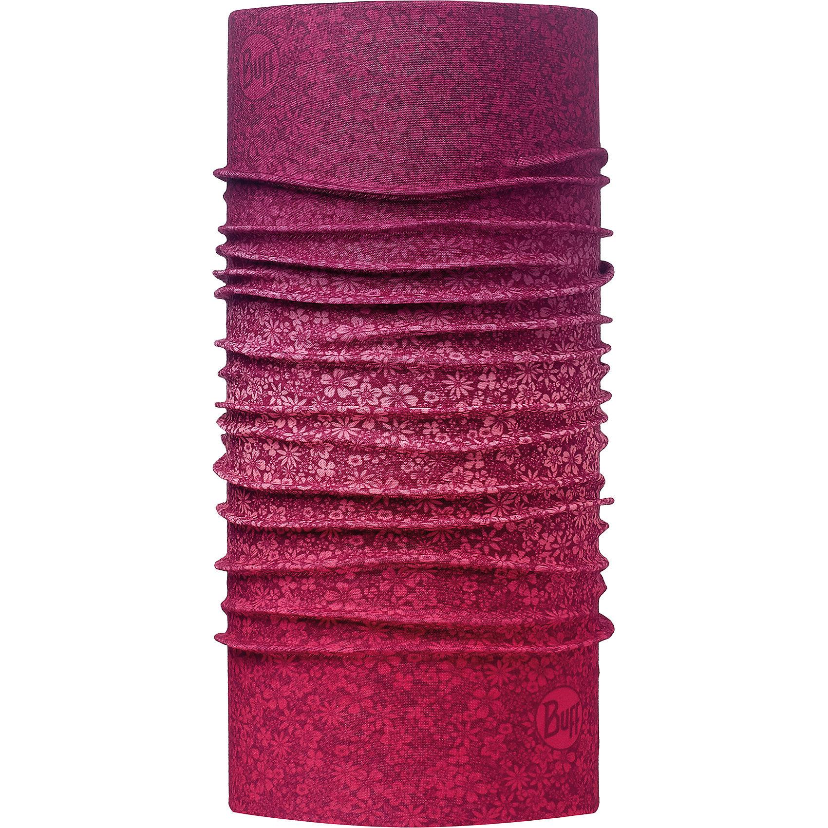 Бандана BUFFГоловные уборы<br>Бандана BUFF <br>Бесшовная бандана-труба из специальной серии Original BUFF. Original BUFF - самый популярный универсальный головной убор из всех серий. <br><br>Сделан из микрофибры - защищает от ветра, пыли, влаги и ультрафиолета. Контролирует микроклимат в холодную и теплую погоду, отводит влагу. Ткань обработана ионами серебра, обеспечивающими длительный антибактериальный эффект и предотвращающими появление запаха. Допускается машинная и ручная стирка при 30-40градусах. Материал не теряет цвет и эластичность, не требует глажки. <br><br>Original BUFF можно носить на шее и на голове, как шейный платок, маску, бандану, шапку и подшлемник. <br><br>Свойства материала позволяют использовать бандану Original BUFF в любое время года, при занятиях любым видом спорта, активного отдыха, туризма или рыбалки.<br>Состав:<br>Полиэстер 100%<br><br>Ширина мм: 89<br>Глубина мм: 117<br>Высота мм: 44<br>Вес г: 155<br>Цвет: фиолетовый<br>Возраст от месяцев: 84<br>Возраст до месяцев: 1188<br>Пол: Унисекс<br>Возраст: Детский<br>Размер: one size<br>SKU: 5568689
