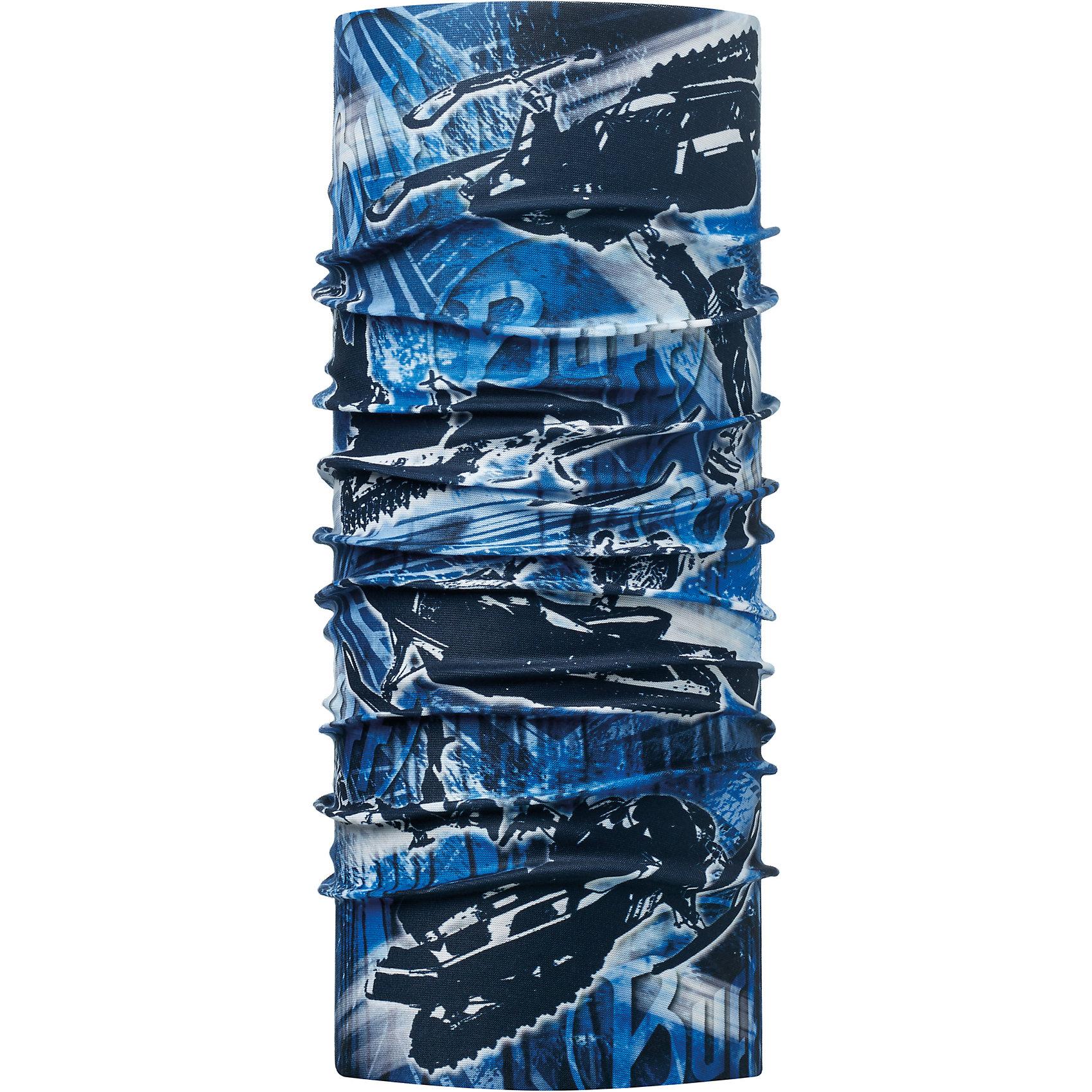 Бандана BUFFБандана BUFF <br>Бесшовная бандана-труба из специальной серии Original BUFF. Original BUFF - самый популярный универсальный головной убор из всех серий. <br><br>Сделан из микрофибры - защищает от ветра, пыли, влаги и ультрафиолета. Контролирует микроклимат в холодную и теплую погоду, отводит влагу. Ткань обработана ионами серебра, обеспечивающими длительный антибактериальный эффект и предотвращающими появление запаха. Допускается машинная и ручная стирка при 30-40градусах. Материал не теряет цвет и эластичность, не требует глажки. <br><br>Original BUFF можно носить на шее и на голове, как шейный платок, маску, бандану, шапку и подшлемник. <br><br>Свойства материала позволяют использовать бандану Original BUFF в любое время года, при занятиях любым видом спорта, активного отдыха, туризма или рыбалки.<br>Состав:<br>Полиэстер 100%<br><br>Ширина мм: 89<br>Глубина мм: 117<br>Высота мм: 44<br>Вес г: 155<br>Цвет: синий<br>Возраст от месяцев: 84<br>Возраст до месяцев: 1188<br>Пол: Унисекс<br>Возраст: Детский<br>Размер: one size<br>SKU: 5568721