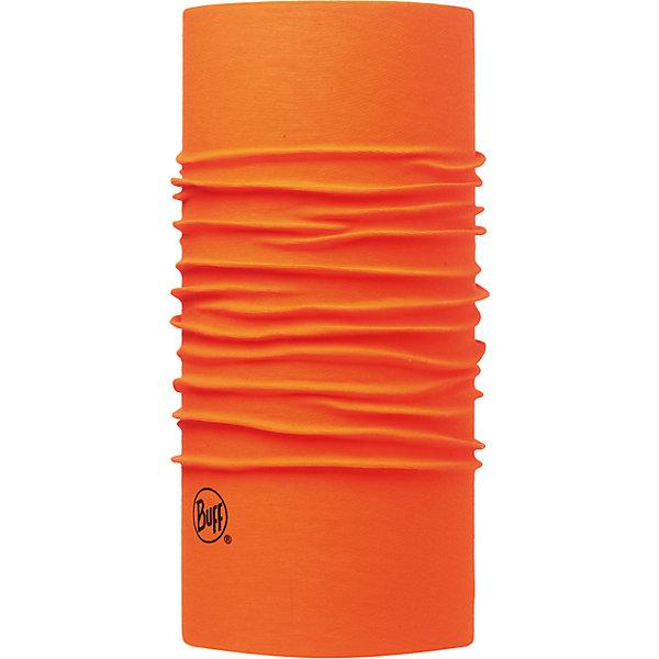 Бандана BUFFГоловные уборы<br>Бандана BUFF <br>Бесшовная бандана-труба из специальной серии Original BUFF. Original BUFF - самый популярный универсальный головной убор из всех серий. <br><br>Сделан из микрофибры - защищает от ветра, пыли, влаги и ультрафиолета. Контролирует микроклимат в холодную и теплую погоду, отводит влагу. Ткань обработана ионами серебра, обеспечивающими длительный антибактериальный эффект и предотвращающими появление запаха. Допускается машинная и ручная стирка при 30-40градусах. Материал не теряет цвет и эластичность, не требует глажки. <br><br>Original BUFF можно носить на шее и на голове, как шейный платок, маску, бандану, шапку и подшлемник. <br><br>Свойства материала позволяют использовать бандану Original BUFF в любое время года, при занятиях любым видом спорта, активного отдыха, туризма или рыбалки.<br>Состав:<br>Полиэстер 100%<br><br>Ширина мм: 89<br>Глубина мм: 117<br>Высота мм: 44<br>Вес г: 155<br>Цвет: оранжевый<br>Возраст от месяцев: 84<br>Возраст до месяцев: 1188<br>Пол: Унисекс<br>Возраст: Детский<br>Размер: one size<br>SKU: 5568741