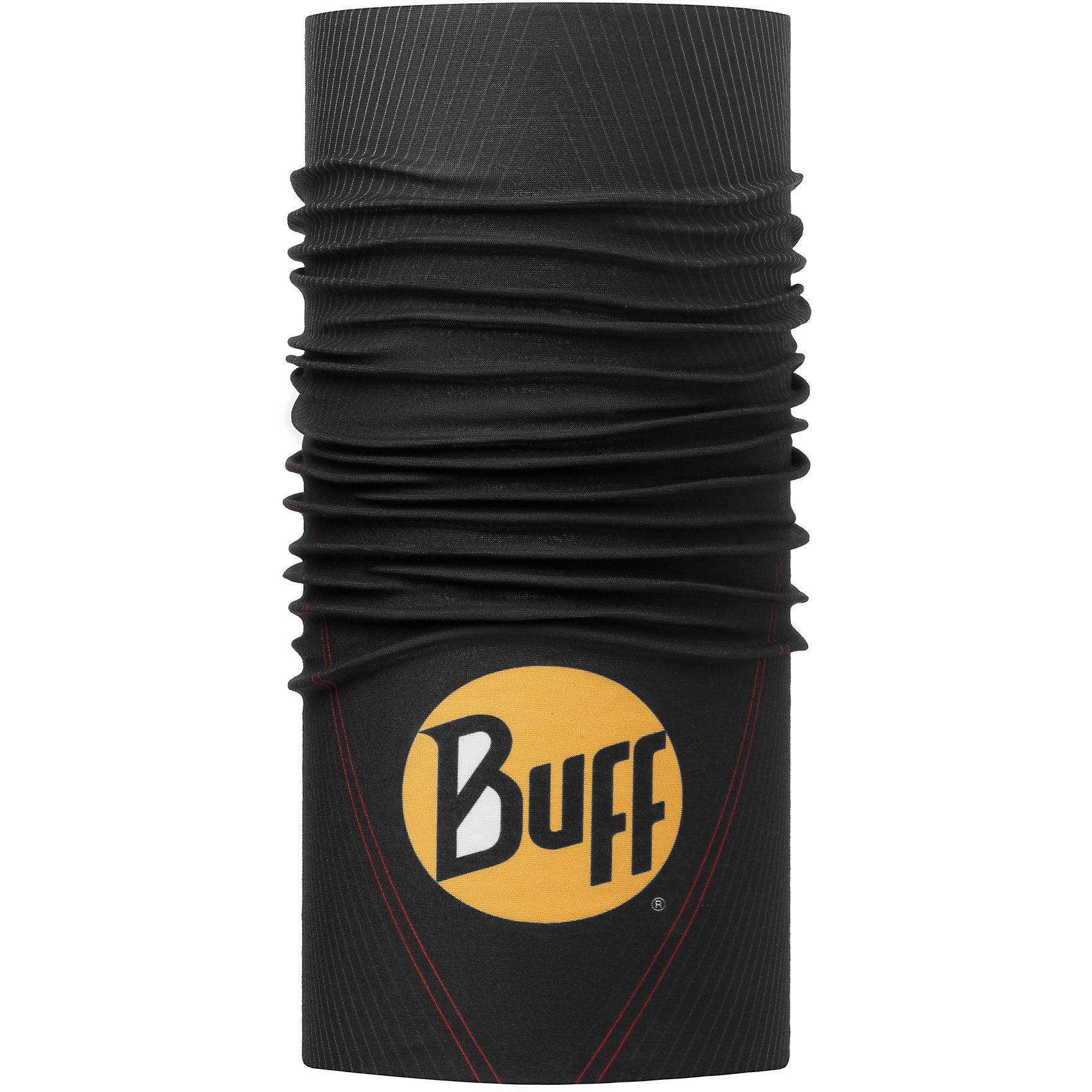 Бандана BUFFГоловные уборы<br>Бандана BUFF <br>Бесшовная бандана-труба из специальной серии Original BUFF. Original BUFF - самый популярный универсальный головной убор из всех серий. <br><br>Сделан из микрофибры - защищает от ветра, пыли, влаги и ультрафиолета. Контролирует микроклимат в холодную и теплую погоду, отводит влагу. Ткань обработана ионами серебра, обеспечивающими длительный антибактериальный эффект и предотвращающими появление запаха. Допускается машинная и ручная стирка при 30-40градусах. Материал не теряет цвет и эластичность, не требует глажки. <br><br>Original BUFF можно носить на шее и на голове, как шейный платок, маску, бандану, шапку и подшлемник. <br><br>Свойства материала позволяют использовать бандану Original BUFF в любое время года, при занятиях любым видом спорта, активного отдыха, туризма или рыбалки.<br>Состав:<br>Полиэстер 100%<br><br>Ширина мм: 89<br>Глубина мм: 117<br>Высота мм: 44<br>Вес г: 155<br>Цвет: черный<br>Возраст от месяцев: 84<br>Возраст до месяцев: 1188<br>Пол: Унисекс<br>Возраст: Детский<br>Размер: one size<br>SKU: 5568747