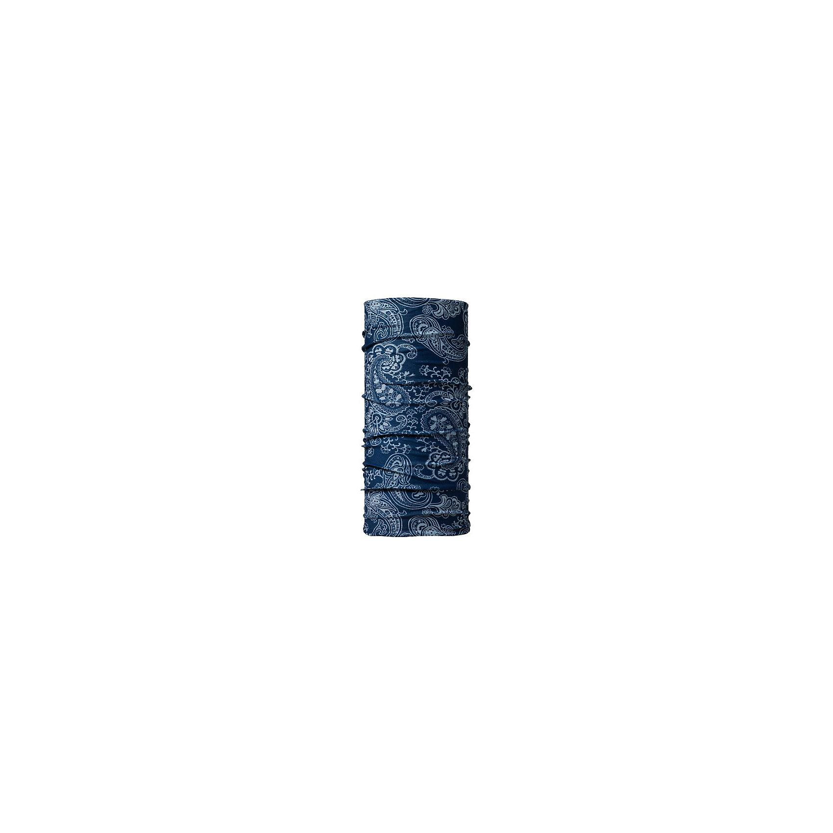 Бандана BUFFГоловные уборы<br>Бандана BUFF <br>Бесшовная бандана-труба из специальной серии Original BUFF. Original BUFF - самый популярный универсальный головной убор из всех серий. <br><br>Сделан из микрофибры - защищает от ветра, пыли, влаги и ультрафиолета. Контролирует микроклимат в холодную и теплую погоду, отводит влагу. Ткань обработана ионами серебра, обеспечивающими длительный антибактериальный эффект и предотвращающими появление запаха. Допускается машинная и ручная стирка при 30-40градусах. Материал не теряет цвет и эластичность, не требует глажки. <br><br>Original BUFF можно носить на шее и на голове, как шейный платок, маску, бандану, шапку и подшлемник. <br><br>Свойства материала позволяют использовать бандану Original BUFF в любое время года, при занятиях любым видом спорта, активного отдыха, туризма или рыбалки.<br>Состав:<br>Полиэстер 100%<br><br>Ширина мм: 89<br>Глубина мм: 117<br>Высота мм: 44<br>Вес г: 155<br>Цвет: синий<br>Возраст от месяцев: 84<br>Возраст до месяцев: 1188<br>Пол: Унисекс<br>Возраст: Детский<br>Размер: one size<br>SKU: 5568765