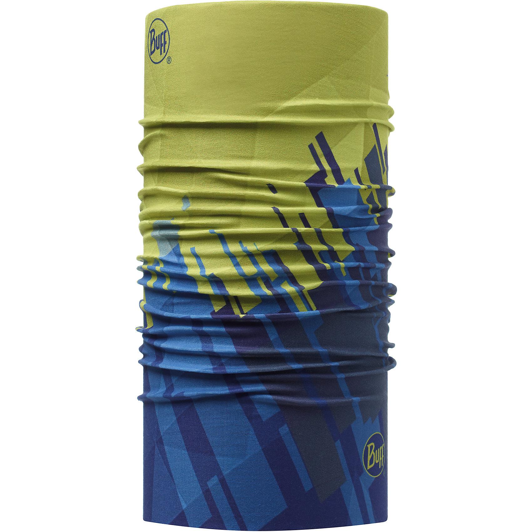 Бандана BUFFГоловные уборы<br>Бандана BUFF <br>Бесшовная бандана-труба из специальной серии Original BUFF. Original BUFF - самый популярный универсальный головной убор из всех серий. <br><br>Сделан из микрофибры - защищает от ветра, пыли, влаги и ультрафиолета. Контролирует микроклимат в холодную и теплую погоду, отводит влагу. Ткань обработана ионами серебра, обеспечивающими длительный антибактериальный эффект и предотвращающими появление запаха. Допускается машинная и ручная стирка при 30-40градусах. Материал не теряет цвет и эластичность, не требует глажки. <br><br>Original BUFF можно носить на шее и на голове, как шейный платок, маску, бандану, шапку и подшлемник. <br><br>Свойства материала позволяют использовать бандану Original BUFF в любое время года, при занятиях любым видом спорта, активного отдыха, туризма или рыбалки.<br>Состав:<br>Полиэстер 100%<br><br>Ширина мм: 89<br>Глубина мм: 117<br>Высота мм: 44<br>Вес г: 155<br>Цвет: зеленый<br>Возраст от месяцев: 84<br>Возраст до месяцев: 1188<br>Пол: Унисекс<br>Возраст: Детский<br>Размер: one size<br>SKU: 5568769