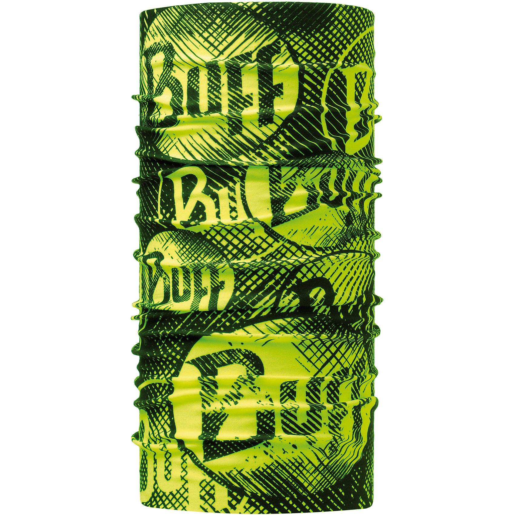 Бандана BUFFГоловные уборы<br>Бандана BUFF <br>Бесшовная бандана-труба из специальной серии Original BUFF. Original BUFF - самый популярный универсальный головной убор из всех серий. <br><br>Сделан из микрофибры - защищает от ветра, пыли, влаги и ультрафиолета. Контролирует микроклимат в холодную и теплую погоду, отводит влагу. Ткань обработана ионами серебра, обеспечивающими длительный антибактериальный эффект и предотвращающими появление запаха. Допускается машинная и ручная стирка при 30-40градусах. Материал не теряет цвет и эластичность, не требует глажки. <br><br>Original BUFF можно носить на шее и на голове, как шейный платок, маску, бандану, шапку и подшлемник. <br><br>Свойства материала позволяют использовать бандану Original BUFF в любое время года, при занятиях любым видом спорта, активного отдыха, туризма или рыбалки.<br>Состав:<br>Полиэстер 100%<br><br>Ширина мм: 89<br>Глубина мм: 117<br>Высота мм: 44<br>Вес г: 155<br>Цвет: зеленый<br>Возраст от месяцев: 84<br>Возраст до месяцев: 1188<br>Пол: Унисекс<br>Возраст: Детский<br>Размер: one size<br>SKU: 5568773
