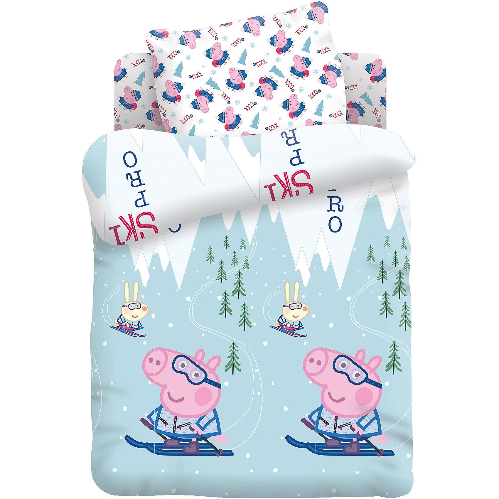 Постельное белье Джордж на лыжах 3 пред. хлопок, Свинка ПеппаСвинка Пеппа<br>Постельное белье Джордж на лыжах 3 пред. хлопок, Свинка Пеппа<br><br>Характеристики:<br><br>• пропускает воздух<br>• выводит лишнюю влагу<br>• обеспечивает комфортный сон<br>• красочный дизайн<br>• состав: 100% хлопок<br>• в комплекте: наволочка, простынь, пододеяльник<br>• размер наволочки: 40х60 см<br>• размер простыни: 110х150 см<br>• размер пододеяльника: 147х112 см<br>• вес: 600 грамм<br><br>Постельное белье Джордж на лыжах обеспечит ребенку комфортные и сказочные сны. Хлопок обеспечивает правильную циркуляцию воздуха, обладает высокой гигроскопичностью - кожа вашего малыша всегда будет дышать во время отдыха. Яркий дизайн с изображением Джорджа не изменит цвет и форму после множества стирок. Белье почти не мнется и хорошо разлаживается утюгом.<br><br>Постельное белье Джордж на лыжах 3 пред. хлопок, Свинка Пеппа вы можете купить в нашем интернет-магазине.<br><br>Ширина мм: 500<br>Глубина мм: 250<br>Высота мм: 500<br>Вес г: 600<br>Возраст от месяцев: 36<br>Возраст до месяцев: 216<br>Пол: Мужской<br>Возраст: Детский<br>SKU: 5569320