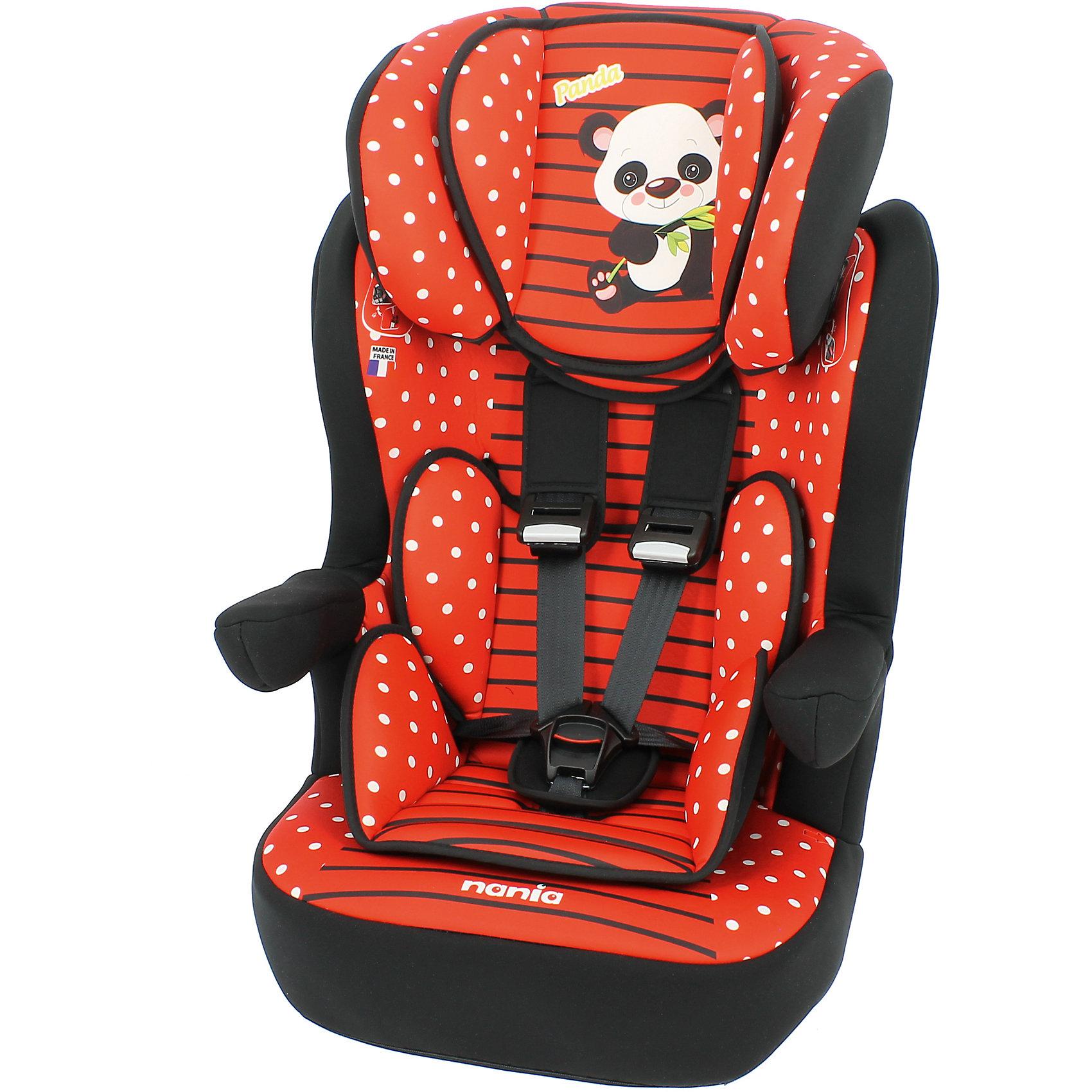 Автокресло Nania Imax SP, 9-36кг, panda redГруппа 1-2-3 (От 9 до 36 кг)<br>Характеристики:<br><br>• группа: 1/2/3;<br>• вес ребенка: 9-36 кг;<br>• возраст ребенка: от 8 месяцев до 12 лет;<br>• способ установки: по ходу движения автомобиля;<br>• способ крепления: штатные ремни безопасности автомобиля;<br>• вкладыш для маленького ребенка, имеется встроенный мягкий подголовник;<br>• вкладыш съемный, для подросшего ребенка остается бустер со спинкой;<br>• кресло оснащено подлокотниками с мягкой обивкой;<br>• положение подлокотников можно регулировать;<br>• высота подголовника регулируется в 5-ти положениях;<br>• чехлы автокресла съемные, стираются при температуре 30 градусов;<br>• маленький ребенок фиксируется встроенными 5-ти точечными ремнями автокресла, подросший малыш – 3-х точечными ремнями безопасности автомобиля;<br>• усиленная боковая защита SP - Side Protection;<br>• материал: пластик, полиэстер;<br>• размеры автокресла: 454х45х88 см;<br>• вес автокресла: 4,7 кг;<br>• стандарт безопасности: ECE R44/04.<br><br>Автокресло Imax SP, 9-36кг, Nania, panda red можно купить в нашем интернет-магазине.<br><br>Ширина мм: 450<br>Глубина мм: 500<br>Высота мм: 710<br>Вес г: 4530<br>Возраст от месяцев: 8<br>Возраст до месяцев: 144<br>Пол: Унисекс<br>Возраст: Детский<br>SKU: 5569345