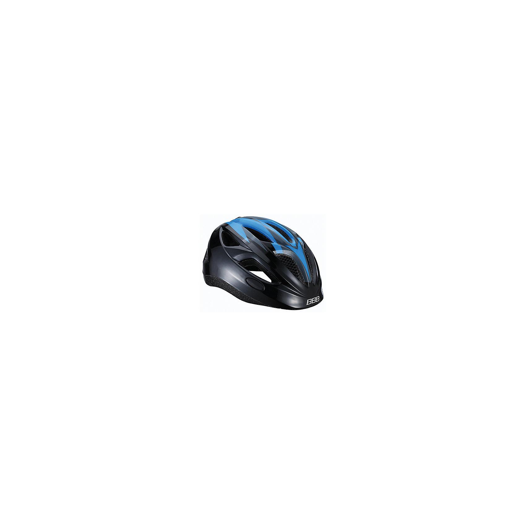 Летний шлем Hero синий, BBBЗащита, шлемы<br>Характеристики товара:<br><br>• 11 вентиляционных отверстий<br>• задние вентиляционные отверстия<br>• сетка - защищает от насекомых<br>• регулируемые ремни для совершенной и удобной посадки<br>• легкая регулировка TwistClose системы, можно регулировать одной рукой <br>• моющиеся антибактериальные накладки<br>• светоотражающие наклейки сзади<br>• страна производства: Тайвань<br><br>Безопасность превыше всего - девиз Hero. Активный отдых на свежем воздухе - лучшее времяпрепровождение летом. Неважно, что выбрал ребенок: самокат, беговел или велосипед,  в любом случае, шлем необходим по правилам техники безопасности.<br><br>Летний шлем Hero синий можно купить в нашем интернет-магазине.<br><br>Ширина мм: 270<br>Глубина мм: 240<br>Высота мм: 180<br>Вес г: 500<br>Возраст от месяцев: 36<br>Возраст до месяцев: 144<br>Пол: Унисекс<br>Возраст: Детский<br>SKU: 5569387