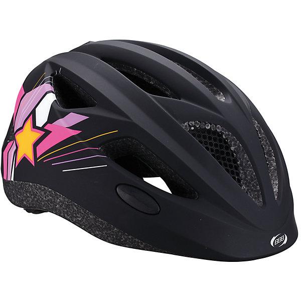 Летний шлем Hero звезды матово-черный, BBBЗащита, шлемы<br>Характеристики товара:<br><br>• 11 вентиляционных отверстий<br>• задние вентиляционные отверстия<br>• сетка - защищает от насекомых<br>• регулируемые ремни для совершенной и удобной посадки<br>• легкая регулировка TwistClose системы, можно регулировать одной рукой <br>• моющиеся антибактериальные накладки<br>• светоотражающие наклейки сзади<br>• страна производства: Тайвань<br><br>Безопасность превыше всего - девиз Hero. <br><br>Активный отдых на свежем воздухе - лучшее времяпрепровождение летом. Неважно, что выбрал ребенок: самокат, беговел или велосипед,  в любом случае, шлем необходим по правилам техники безопасности.<br><br>Летний шлем Hero звезды матово-черный можно купить в нашем интернет-магазине.<br>Ширина мм: 270; Глубина мм: 240; Высота мм: 180; Вес г: 500; Возраст от месяцев: 36; Возраст до месяцев: 144; Пол: Унисекс; Возраст: Детский; SKU: 5569388;