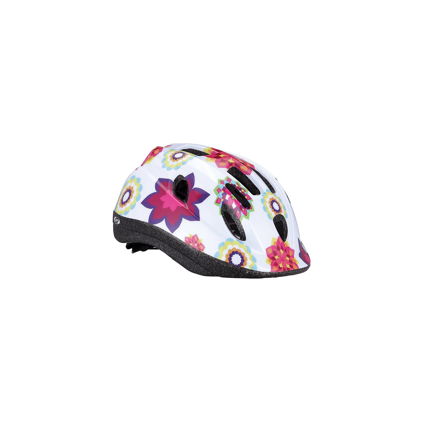 Летний шлем Boogy цветы, BBBЗащита, шлемы<br>Характеристики товара:<br><br>• 12 вентиляционных отверстий<br>• задние вентиляционные отверстия<br>• сетка - защищает от насекомых<br>• регулируемые ремни для совершенной и удобной посадки<br>• легкая регулировка TwistClose системы, можно регулировать одной рукой <br>• моющиеся антибактериальные накладки<br>• светоотражающие наклейки сзади<br>• страна производства: Тайвань<br><br>Безопасность превыше всего - девиз Hero. <br><br>Активный отдых на свежем воздухе - лучшее времяпрепровождение летом. Неважно, что выбрал ребенок: самокат, беговел или велосипед,  в любом случае, шлем необходим по правилам техники безопасности.<br><br>Летний шлем Boogy цветы можно купить в нашем интернет-магазине.<br><br>Ширина мм: 270<br>Глубина мм: 240<br>Высота мм: 180<br>Вес г: 500<br>Возраст от месяцев: 36<br>Возраст до месяцев: 144<br>Пол: Женский<br>Возраст: Детский<br>SKU: 5569389