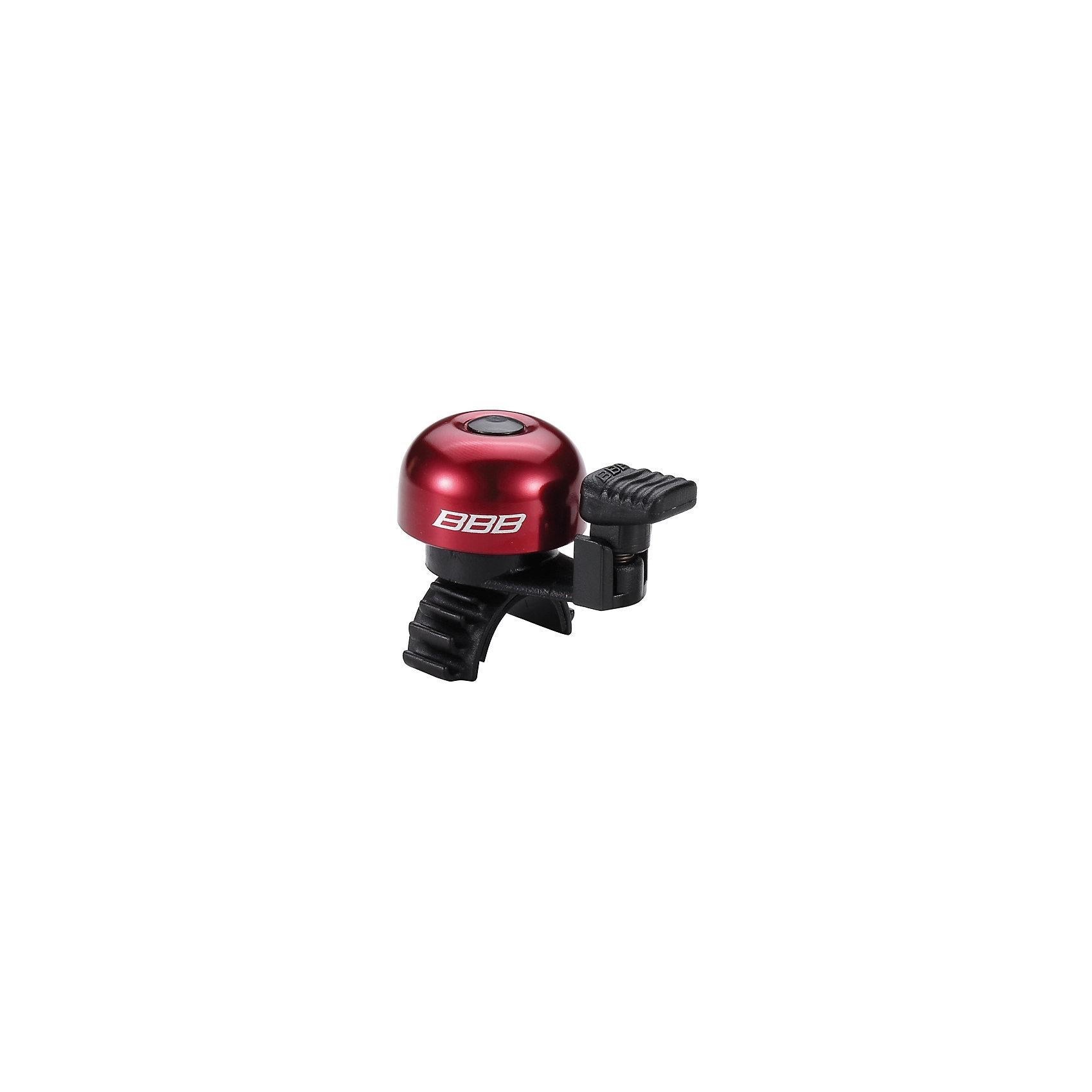 Звонок EasyFit  красный, BBBАксеcсуары для велосипедов<br>Характеристики товара: <br><br>• цвет: красный<br>• облегченный алюминиевый звонок с пружиной из нержавеющей стали <br>• быстросъемный <br>• крепление с резиновым ремешком<br>• подходит для всех видов рулей<br>• прочная и легкая конструкция<br><br>Звонок EasyFit  красный, BBB можно купить в нашем интернет-магазине.<br><br>Ширина мм: 160<br>Глубина мм: 80<br>Высота мм: 40<br>Вес г: 31<br>Возраст от месяцев: 36<br>Возраст до месяцев: 144<br>Пол: Унисекс<br>Возраст: Детский<br>SKU: 5569397