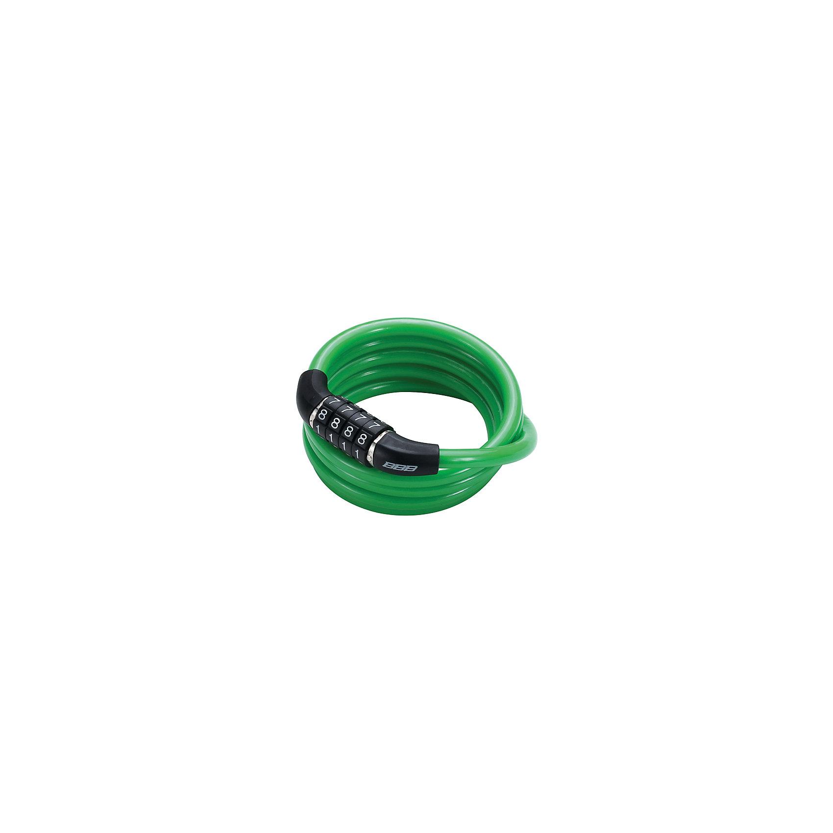 Замок велосипедный QuickCode кодовый, зеленый, BBBАксеcсуары для велосипедов<br>Характеристики товара:  <br><br>• толстый и прочный скрученный трос обеспечивает максимальную защиту<br>• цвет: зеленый<br>• четырехзначный код (фиксированный)<br>• надежный механизм замка<br>• оплетка троса для защиты вашего велосипеда от сколов и царапин<br>• размеры: 8мм Х 1200мм.<br>• совместим с BBL-92 CableFix<br><br>Замок велосипедный QuickCode кодовый можно купить в нашем интернет-магазине.<br><br>Ширина мм: 250<br>Глубина мм: 170<br>Высота мм: 45<br>Вес г: 99<br>Возраст от месяцев: 36<br>Возраст до месяцев: 144<br>Пол: Унисекс<br>Возраст: Детский<br>SKU: 5569403