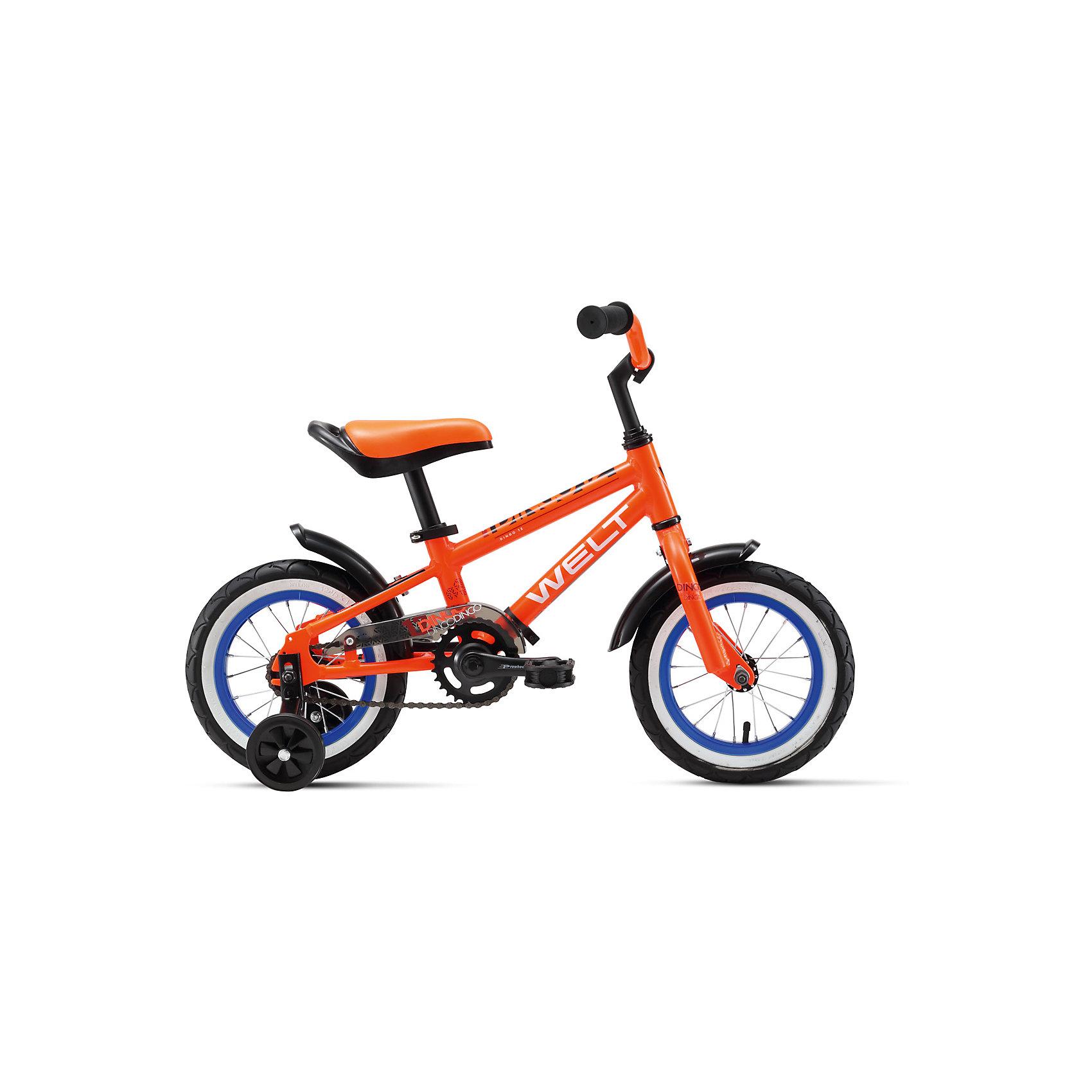 Велосипед  Dingo 12, оранжево-черно-голубой, WeltВелосипеды детские<br>Характеристики товара:<br><br>• цвет: оранжевый, черный, голубой <br>• возраст: от 3 лет<br>• рама: Alloy 6061<br>• диаметр колес: 12<br>• 1 скорость<br>• вилка: Rigid (жесткая)<br>• тормоз: coaster (ножной)<br>• система: 3 pcs alloy<br>• кассета: 28T integrated<br>• тип рулевой колонки:  1 резьбовая<br>• покрышки: Wanda 1021 16x2,125. <br>• вес 7,1 кг в сборе /6,5 кг без боковых колес.  <br>• размер: 145х20х80см <br><br>Велосипед  Dingo с облегченной рамой и боковые колеса в комплекте можно купить в нашем интернет-магазине.<br><br>Ширина мм: 1450<br>Глубина мм: 200<br>Высота мм: 800<br>Вес г: 16500<br>Возраст от месяцев: 48<br>Возраст до месяцев: 2147483647<br>Пол: Унисекс<br>Возраст: Детский<br>SKU: 5569413
