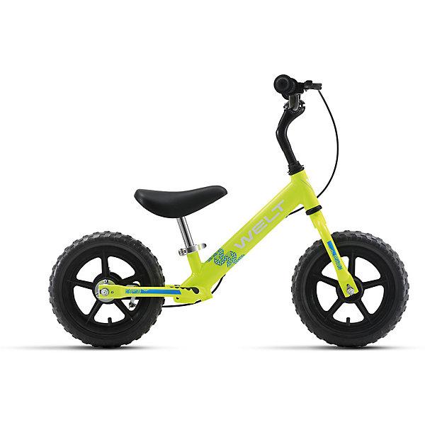 Беговел  Zebra 12, салатово-голубой, WeltБеговелы<br>Характеристики товара:<br><br>• цвет: салатовый, голубой <br>• возраст: от 3 лет<br>• рама: Alloy 6061 (алюминий)<br>• диаметр колес: 12<br>• тип вилки: жесткая (Rigid)<br>• тип тормозов: ручной (roller)<br>• тип рулевой колонки:  резьбовая<br>• покрышки: PVC <br><br>Беговел для самых маленьких. Колеса 12 дюймов, промышленные подшипники втулок, алюминиевая рама и компоненты, ручной тормоз, очень низкий вес - всего 3,6 кг в сборе. То, что надо для прогулки. <br><br>Беговел Зебра 12 можно купить в нашем интернет-магазине.<br><br>Ширина мм: 1450<br>Глубина мм: 200<br>Высота мм: 800<br>Вес г: 16500<br>Возраст от месяцев: 24<br>Возраст до месяцев: 48<br>Пол: Унисекс<br>Возраст: Детский<br>SKU: 5569414