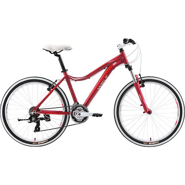 Велосипед  Edelweiss 1.0, 17 дюймов, темно-красный, WeltВелосипеды детские<br>Характеристики товара:<br><br>• цвет: красный<br>• рама: Alloy 6061 <br>• размер рамы: 16,20<br>• диаметр колес: 26<br>• кол-во скоростей: 21<br>• тип вилки: амортизационная<br>• вилка: WELT MRK MLO 100mm<br>• переключатель задний : Shimano TY-300<br>• переключатель передний: Shimano TZ-30<br>• шифтеры: Shimano EF-51<br>• тип тормозов: дисковые механические<br>• тормоза: JAK-5<br>• система:  steel 42/34/24 <br>• кассета: Shimano HG20 12-28T<br>• тип рулевой колонки:  1-1/8 безрезьбовая<br>• покрышки: Compass 26 x 2,1 <br>• страна бренда: Германия <br><br>Велосипед  Edelweiss 1.0 D -это модель, которая создана  для кросс-кантри. Большие колеса, мягкая амортизация позволят преодолеть путь, проходящий по загородному бездорожью. <br><br>Велосипед  Edelweiss 1.0 D, 17 дюймов, красный, Welt можно купить в нашем интернет-магазине.<br>Ширина мм: 1450; Глубина мм: 200; Высота мм: 800; Вес г: 16500; Возраст от месяцев: 168; Возраст до месяцев: 2147483647; Пол: Женский; Возраст: Детский; SKU: 5569416;