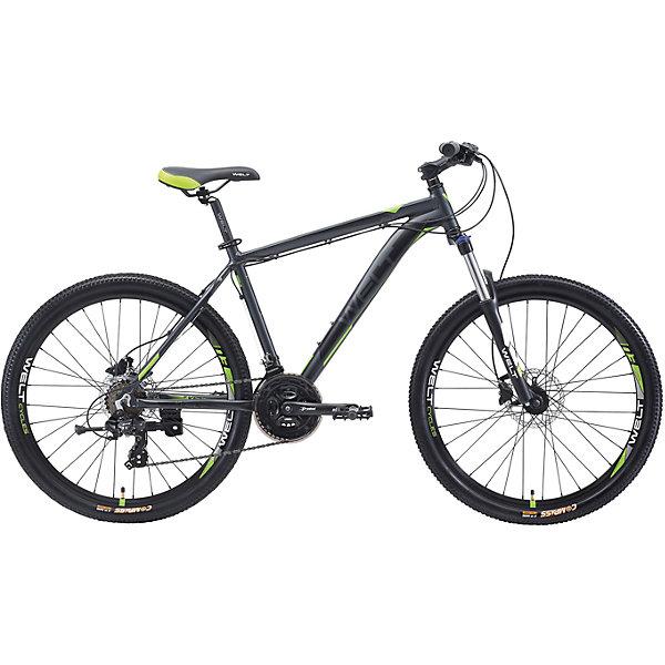 Велосипед  Ridge 1.0 HD, 18 дюймов, серо-зеленый, WeltВелосипеды детские<br>Характеристики товара:<br><br>• цвет: серый, зеленый<br>• возраст: от 6 лет<br>• механические тормоза<br>• цельнолитая контрукция вилки, ход 100мм<br>• подножка<br>• диаметр колес: 18<br>• кол-во скоростей: 21<br>• вилка: Suntour XCT HLO 100mm (амортизационная)<br>• переключатель задний : Shimano TY-300<br>• переключатель передний: Shimano TZ-30<br>• шифтеры: Shimano EF-51<br>• тип тормозов: V-brake<br>• тормоза: Alloy YX-122<br>• система:  Prowheel alloy 42/34/24 <br>• кассета: Shimano HG20 12-28T<br>• тип рулевой колонки:  1-1/8 безрезьбовая<br>• покрышки: Compass 26 x 2,1<br>• страна бренда: Германия<br><br>Велосипед  Ridge 1.0 V, рама которого выполнена из алюминиевого сплава. Колеса на двойных ободах. Отличают эту модель от остальных дисковые тормоза, более технологичные по сравнению с ободными. <br><br>Этот универсальный велосипед можно эксплуатировать в городе или за его пределами.<br><br>Велосипед  Ridge 1.0 V, 18 дюймов, серо-зеленый Welt можно купить в нашем интернет-магазине.<br>Ширина мм: 1450; Глубина мм: 200; Высота мм: 800; Вес г: 16500; Возраст от месяцев: 168; Возраст до месяцев: 2147483647; Пол: Унисекс; Возраст: Детский; SKU: 5569428;