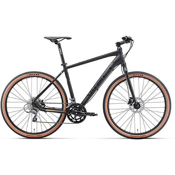 Велосипед  Horizon 27,5, черный, WeltВелосипеды детские<br>Характеристики товара:<br><br>• цвет: черный<br>• оборудован жесткой алюминиевой вилкой<br>• гидравлическими тормозами Shimano, <br>• 16 скоростная трансмиссия Shimano Claгis<br>• колеса с бескамерными ободами WTB и широкими бескамерными сликами WTB<br>• рама Alloy 6061 27 Hybrid I <br>• диаметр колес 27,5 <br>• кол-во скоростей 16 <br>• тип вилки: жесткая (rigid ES27 alloy, threadless, disc mount) <br>• пер. переключатель Shimano Claris <br>• зад. переключатель Shimano Claris <br>• шифтеры Shimano Claris 2x8 <br>• тип тормозов: дисковые гидравлические Тормоза Shimano M-315 <br>• система Prowheel 0unce-420C 50/34T <br>• каретка sealed cartridge <br>• кассета Shimano HG 50-811-30T <br>• вынос alloy 4 bolts, Ф31.8,90mm Руль alloy Ф31.8 620mm low rise <br>• ободья WTB tubeless <br>• покрышки WTB Horizon 650B x 47C <br>• втулки QUANDO KT-68 6 bolts <br>• подседельный штырь alloy Ф27.2 300mm <br>• цепь KMC C50 <br> <br>Гибрид горного велосипеда и ситибайка 50/50 на колесах 27,5 для универсальности использования на технологичной и облегченной алюминиевой раме.<br><br>Велосипед  Horizon 27,5, черный, Welt можно купить в нашем интернет-магазине.<br><br>Ширина мм: 1450<br>Глубина мм: 200<br>Высота мм: 800<br>Вес г: 16500<br>Возраст от месяцев: 168<br>Возраст до месяцев: 2147483647<br>Пол: Унисекс<br>Возраст: Детский<br>SKU: 5569430