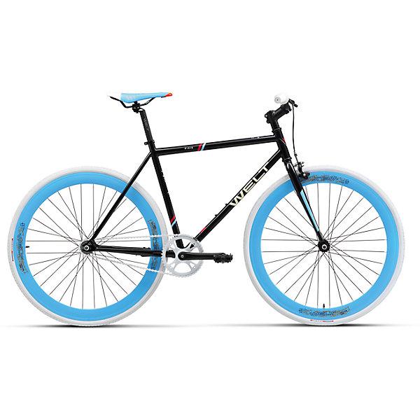 Велосипед  Fixie 1.0, черный, WeltВелосипеды детские<br>Характеристики товара:<br><br>• цвет: черный<br>• рама: Cr-Mo / Steel<br>• размер рамы, дюймы: one size<br>• диаметр колес: 700C<br>• кол-во скоростей: 1<br>• тип вилки: жесткая<br>• вилка: Rigid Cr-Mo<br>• шифтеры: нет<br>• тип тормозов: U-brake/ножной<br>• тормоза: Winzip 205A<br>• система: XD-019 44T<br>• каретка: sealed cartridge<br>• кассета: TriDaimond 16T<br>• тип рулевой колонки: 1-1/8 безрезьбовая<br>• вынос: alloy, A-Head, 75mm<br>• руль: alloy Ф25,4 540mm <br>• ободья: alloy, Aero, double wall<br>• покрышки: Kenda Kwest 700x28C<br>• втулки: KT Flip/Flop<br>• подседельный штырь: alloy Ф25,4 250mm<br>• цепь: KMC Z-410A<br>• подножка: нет<br>• крылья: нет.<br> <br>Односкоростной городской велосипед с колесами 28 дюймов и хроммолибденовой рамой. Задняя втулка флип-флоп позволяет как тормозить ногами на фиксированной передаче, так и использовать клещевые тормоза, установив колесо в раму стороной с трещеткой. <br><br>Клещевые тормоза в комплекте. Яркий вид и эмоции окружающих позволят всегда выделиться из толпы! <br><br>Велосипед  Fixie 1.0, черный, Welt можно купить в нашем интернет-магазине.<br>Ширина мм: 1450; Глубина мм: 200; Высота мм: 800; Вес г: 16500; Возраст от месяцев: 168; Возраст до месяцев: 2147483647; Пол: Унисекс; Возраст: Детский; SKU: 5569435;