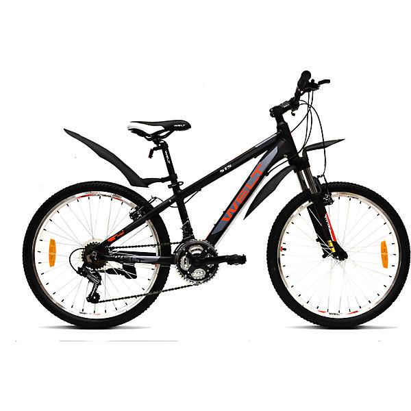 Велосипед  Peak 24, черно-красный, WeltВелосипеды детские<br>Характеристики товара:<br><br>• цвет: черно-красный<br>• облегченная алюминиевая рама из труб сложного профиля <br>• амортизационная вилка<br>• рама: Alloy 6061<br>• размер рамы, дюймы: one size<br>• диаметр колес: 24<br>• кол-во скоростей: 21<br>• тип вилки: амортизационная<br>• вилка: WELT ES-245 73 mm<br>• пер. переключатель: Shimano TZ-30<br><br>Подростковый велосипед с передним дисковым механическим тормозом и взрослой комплектацией будет отличным выбором перед переходом в мир взрослых велосипедов. Это настоящий горный велосипед с колесами меньшего диаметра 24 дюйма на двойных ободах. <br><br>21 скоростная трансмиссия Shimano Tourney даст почувствовать себя настоящим райдером, а подножка и крылья станут приятным дополнение в копилку потребительских свойств этой модели.<br><br>Велосипед  Peak 24, черно-красный, Welt можно купить в нашем интернет-магазине.<br><br>Ширина мм: 1450<br>Глубина мм: 200<br>Высота мм: 800<br>Вес г: 16500<br>Возраст от месяцев: 108<br>Возраст до месяцев: 168<br>Пол: Унисекс<br>Возраст: Детский<br>SKU: 5569439