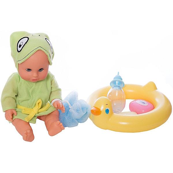 Пупс Bambolina с аксессуарами для купания, 30 см, DIMIANКуклы<br>Пупс Bambolina с аксессуарами для купания, 30 см, DIMIAN (Димиан)<br><br>Характеристики:<br><br>• в комплекте: кукла, круг, мыльница, мыло, мочалка, халатик, бутылочка<br>• размер куклы: 30 см<br>• материал: пластик, ПВХ, текстиль<br>• размер упаковки: 29х20,5х34,5 см<br>• вес: 950 грамм<br><br>Очаровательный пупс Bambolina научит девочку заботиться о малышах и поможет весело провести время. В набор входят аксессуары, необходимые для купания пупса: круг, мыльница с мылом и мочалка. Девочка сможет набрать воды в ванночку и устроить веселое купание для малыша. После купания можно укутать пупса в теплый халат и напоить вкусным молочком из бутылочки. Забавный пупс всегда будет радовать свою заботливую мамочку!<br><br>Пупса Bambolina с аксессуарами для купания, 30 см, DIMIAN (Димиан) можно купить в нашем интернет-магазине.<br>Ширина мм: 347; Глубина мм: 102; Высота мм: 317; Вес г: 625; Возраст от месяцев: 36; Возраст до месяцев: 2147483647; Пол: Женский; Возраст: Детский; SKU: 5571405;