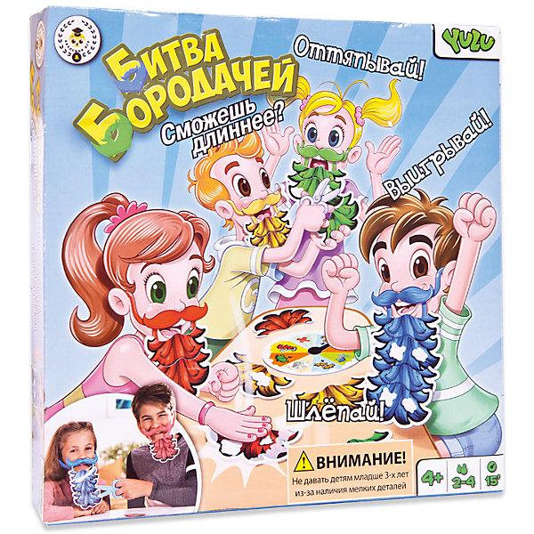 Игра настольная Битва Бородачей, YuluНастольные игры для всей семьи<br>Игра настольная Битва Бородачей, Yulu (Юлу)<br><br>Характеристики:<br><br>• усы (4 шт.), кусочки бороды (16 шт.), бритва, пара ножниц<br>• материал: пластик, картон<br>• количество игроков: 2-4<br>• время игры: 15 минут<br>• размер упаковки: 26,7х26,7х6 см<br>• вес: 200 грамм<br><br>Битва бородачей - увлекательная игра, которая понравится всем членам семьи. Цель игры - первым отрастить самую длинную бороду. Перед началом игры все игроки надевают пластиковые усы, к которым крепятся четыре кусочка бороды. Для усложнения игры предусмотрен волчок, который может позволить вам отрезать кусок бороды противника ножницами, сбрить бороду бритвой или нарастить себе кусок нужного цвета.<br><br>Игру настольную Битва Бородачей, Yulu (Юлу) можно купить в нашем интернет-магазине.<br>Ширина мм: 267; Глубина мм: 60; Высота мм: 267; Вес г: 200; Возраст от месяцев: 36; Возраст до месяцев: 2147483647; Пол: Унисекс; Возраст: Детский; SKU: 5571444;