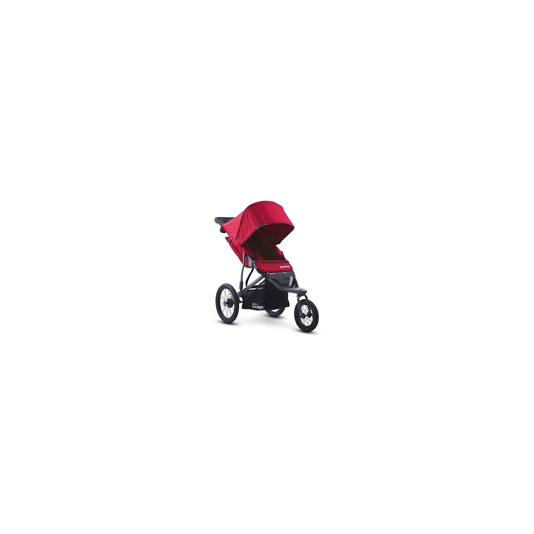 Прогулочная коляска Joovy Zoom 360 Ultralight, красныйПрогулочные коляски<br>Характеристики товара:<br><br>• возраст от 3 месяцев;<br>• плавно регулируемая ременным механизмом спинка до положения в 160 градусов;<br>• большой капюшон для защиты от непогоды и солнечных лучей;<br>• смотровое окошко на капюшоне;<br>• практичный столик-органайзер с подстаканником и отделением на молнии для ключей или телефона;<br>• сетчатый кармашек с внутренней стороны сидения;<br>• 5-ти точечные ремни безопасности;<br>• светоотражающие элементы для видимости в темное время суток;<br>• материал: полиэстер с водоотталкивающей пропиткой и защитой от УФ-лучей.<br><br>Прогулочная коляска Joovy Zoom 360 Ultralight красная — отличный вариант для родителей, ведущих активный образ жизни. С ней можно отправиться не только на прогулку в парк, но и на природу, в путешествие, в поход и даже заниматься бегом. Коляска отличается проходимостью и хорошей маневренностью. Просторное сидение обеспечит малышу комфортную прогулку. Капюшон надежно защитит от дождя и палящего солнца. Для родителей предусмотрен удобный аксессуар на ручке — столик с 2 подстаканниками и небольшим отсеком на молнии для мелочей. Ручка родителей обтянута противоскользящим материалом. Хорошая проходимость достигается благодаря большим задним надувным колесам.<br><br>Шасси коляски:<br><br>• прочная рама из авиационного алюминия;<br>• тип складывания: книжка;<br>• диаметр переднего колеса 30 см, задних колес 40 см;<br>• тип колес: надувные;<br>• переднее поворотное колесо с возможностью блокировки;<br>• ширина колесной базы 63,5 см;<br>• стояночный тормоз;<br>• пружинные амортизаторы;<br>• вместительная корзина для покупок.<br><br>Размер коляски в разложенном виде 137х117х63,5 см<br>Размер коляски в сложенном виде 86х63,5х48 см<br>Вес коляски 11,5 кг<br>Размер упаковки 86х63,5х48 см<br>Вес упаковки 11,5 кг<br><br>Комплектация:<br><br>• прогулочный блок;<br>• органайзер;<br>• насос;<br>• инструкция.<br><br>Прогулочную коляску Joovy Zoo