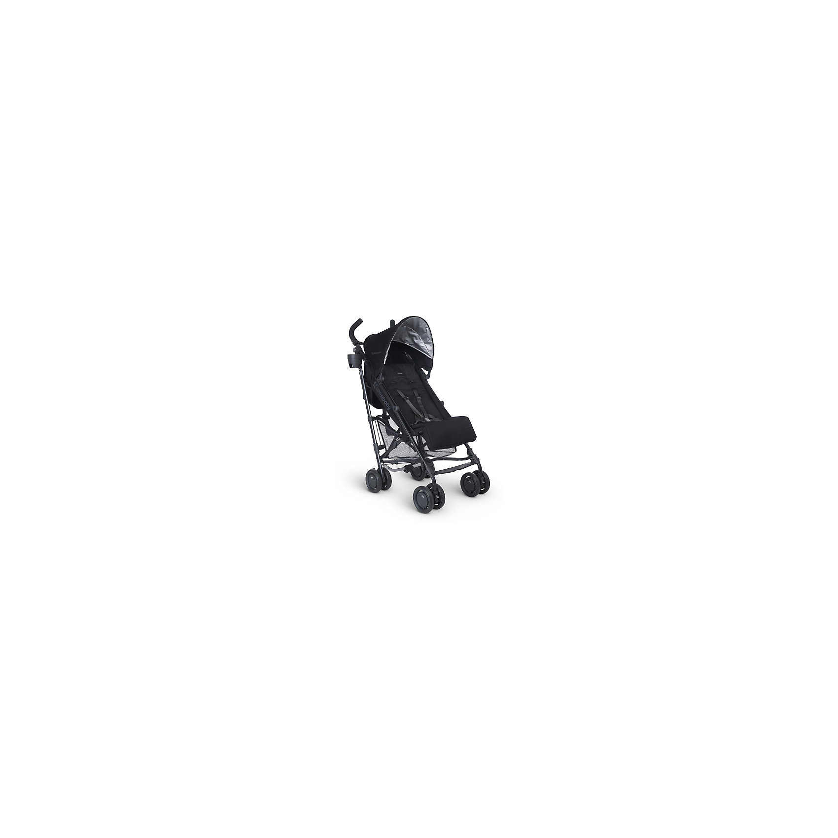 Коляска-трость UPPAbaby G-luxe, черныйКоляски-трости<br>Характеристики товара:<br><br>• возраст от 6 месяцев;<br>• регулируемый наклон спинки в 4 положениях;<br>• большой капюшон для защиты от непогоды;<br>• дополнительный солнцезащитный козырек на капюшоне с УФ-защитой;<br>• регулируемая подножка;<br>• мягкий съемный внутренний матрасик на сидении из влагонепроницаемого материала;<br>• регулируемые 5-ти точечные ремни безопасности;<br>• подстаканник, который можно крепить с любой стороны;<br>• материал: полиэстер с водоотталкивающей пропиткой.<br><br>Коляска-трость UppaBaby G-Luxe черная — легкая и маневренная коляска, которая отлично подойдет для прогулок по городу, парку, походов в торговый центр, поездок на природу и путешествий. Большой капюшон надежно защитит от дождя, а дополнительный козырек с УФ-защитой спасет от палящего солнца. Спинка и подножка регулируются, что позволяет подобрать для малыша оптимальное положение во время прогулки. Ручки родителей обтянуты противоскользящим материалом. В комплекте удобный ремень для переноски коляски в сложенном виде.<br><br>Шасси коляски:<br><br>• облегченная алюминиевая рама;<br>• тип складывания: трость;<br>• все колеса сдвоенные, передние поворотные с блокировкой;<br>• диаметр колес 15 см;<br>• тип колес: пластиковые;<br>• ширина колесной базы 48 см;<br>• стояночный тормоз-педаль;<br>• пружинные амортизаторы на всех колесах;<br>• вместительная сетчатая корзина для покупок;<br>• максимальная нагрузка на корзину 4,5 кг.<br><br>Размер коляски в разложенном виде 48х84х108 см<br>Размер коляски в сложенном виде 30х108х21,5 см<br>Вес коляски 6,8 кг<br>Размер упаковки 108х41х36 см<br>Вес упаковки 6,8 кг<br><br>Комплектация:<br><br>• прогулочный блок;<br>• подстаканник;<br>• ремень для переноски;<br>• вкладыш;<br>• инструкция.<br><br>Коляску-трость UppaBaby G-Luxe черную можно приобрести в нашем интернет-магазине.<br><br>Ширина мм: 360<br>Глубина мм: 410<br>Высота мм: 1080<br>Вес г: 6000<br>Возраст от месяцев: 0<br>Возраст д