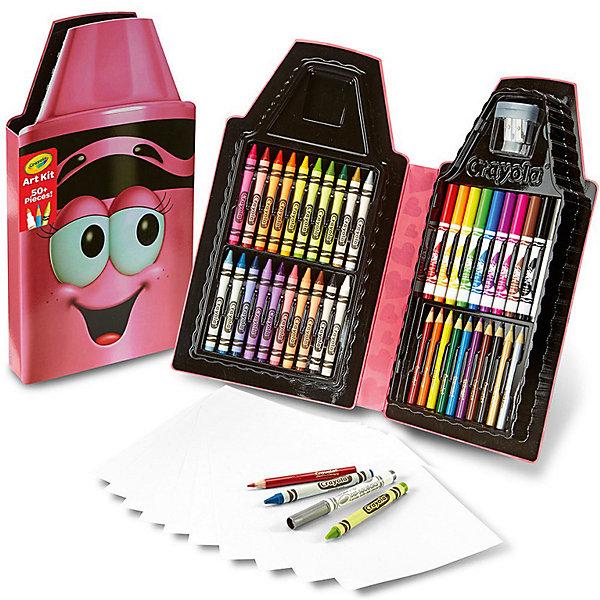 Набор для творчества Карандаш, розовый, CrayolaЦветные<br>Характеристики:<br><br>• возраст: от 5 лет<br>• в комплекте: 10 фломастеров, 10 карандашей, 20 восковых мелков, 10 листов бумаги, точилка;<br>• материал: пластик, бумага, дерево, воск;<br>• размер упаковки: 17,5х3х32 см;<br>• вес: 360 грамм.<br><br>«Карандаш» Crayola - универсальный набор для детского творчества. В комплект входят 10 цветных карандашей, 10 фломастеров, 20 восковых мелков, чистые листы бумаги и точилка. <br><br>Мягкая текстура равномерно ложится на поверхность, оставляя за собой яркий цвет. Если ребенок испачкается, след от фломастеров и карандашей легко смывается водой.<br><br>Точилка оснащена двумя отверстиями разного размера. С помощью точилки ребенок сможет заточить любые карандаши или мелки. <br><br>Упаковка выполнена в виде веселого карандаша. Юный художник всегда сможет взять с собой всё, что нужно для создания шедевров.<br><br>Набор для творчества Карандаш, розовый, Crayola (Крайола) можно купить в нашем интернет-магазине.<br>Ширина мм: 320; Глубина мм: 30; Высота мм: 175; Вес г: 360; Возраст от месяцев: 60; Возраст до месяцев: 2147483647; Пол: Женский; Возраст: Детский; SKU: 5574415;