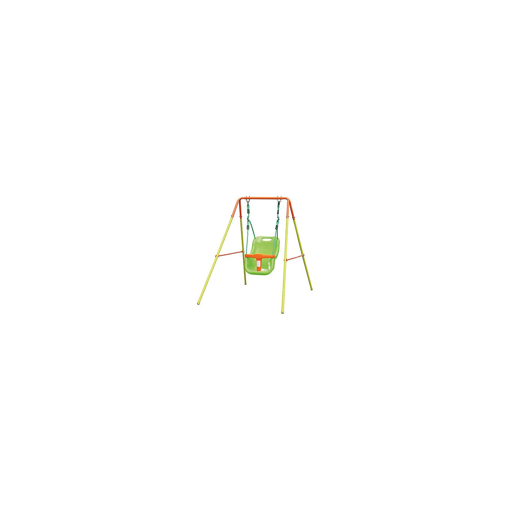 Качели, J&amp;SКачели и качалки<br>Характеристики товара:<br><br>• габаритные размеры (ДхШхВ): 0,96х1,46х1,2м<br>• каркас: сталь Ф28/22/16/22мм (порошковое напыление);<br>• сидение: полипропилен<br>• вес: 6,8кг <br>• страна-производитель: Китай<br>• упаковка: цветная коробка<br>• габариты изделия в упаковке: 0,45х0,3х0,68м<br><br>Предназначены только для частного использования на улице для детей  возрастом от 6 до 24-х месяцев с максимальным весом 15 кг.<br><br>Качели упакованы в цветную коробку с удобной ручкой для переноски.<br><br>Качели для малышей можно купить в нашем интернет-магазине.<br><br>Ширина мм: 680<br>Глубина мм: 450<br>Высота мм: 300<br>Вес г: 6800<br>Возраст от месяцев: 36<br>Возраст до месяцев: 2147483647<br>Пол: Унисекс<br>Возраст: Детский<br>SKU: 5574431