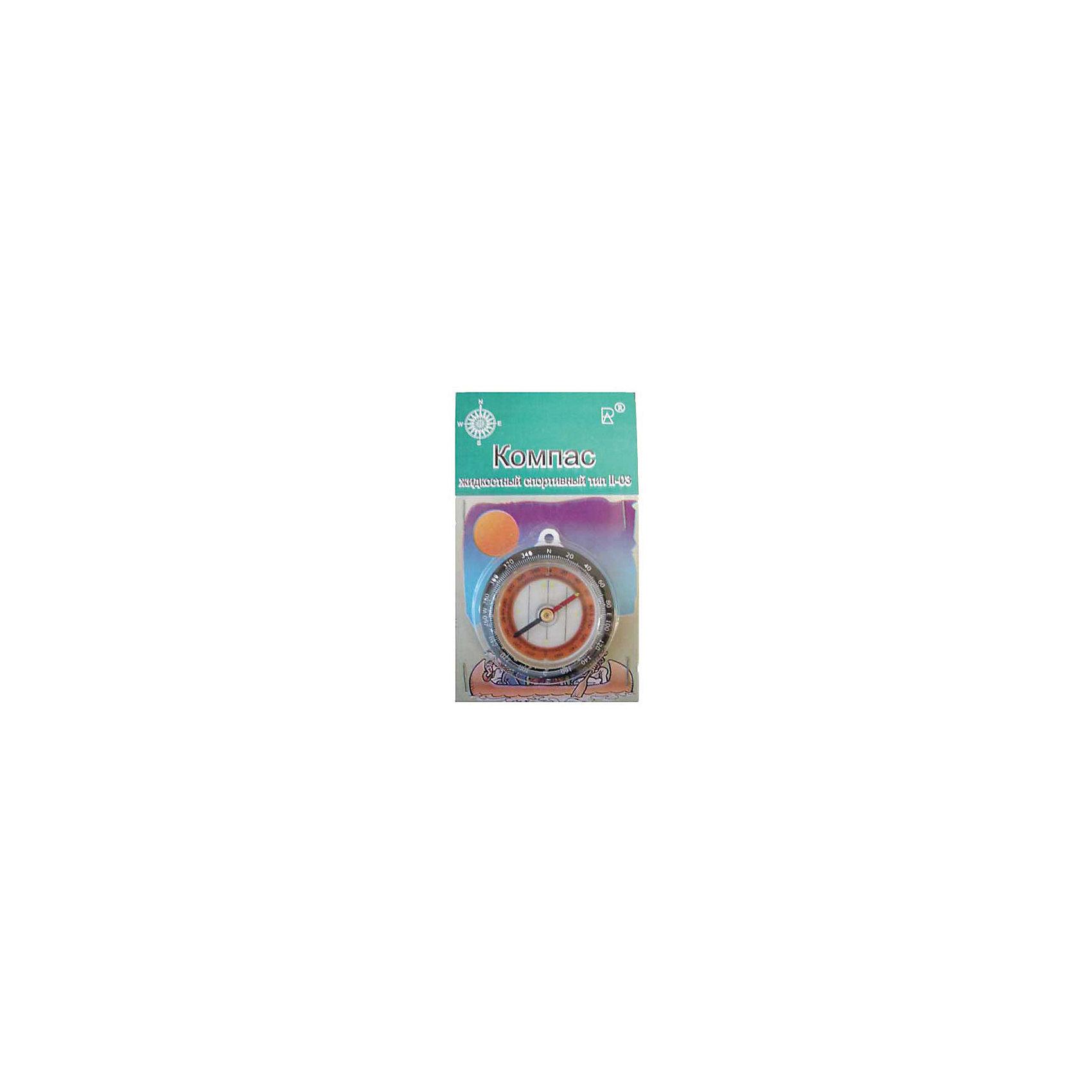 Компас жидкостный спортивный тип 2-03Туризм<br>Характеристики товара:<br><br>• вид: магнитный туристический<br>• тип: жидкостный<br>• успокоение магнитной стрелки: не более 7сек<br>• рабочий диапазон температур: от -30°С до +50°С<br>• цена деления круговой шкалы: 2 градуса<br>• материал: макролон, полистирол. Стрелка - сталь. Заполнение капсулы - керосин<br>• страна-производитель: Россия<br><br>Двойная шкала: внутренняя и наружная. На шкале компаса отмечен каждый второй градус, а каждый двадцатый имеет цифровое обозначение. <br><br>На стрелку и шкалу нанесены точки светоотражающей краской. Капсула сварена ультазвуковой сваркой и заполнена «Уайт-спиритом». <br><br>Компас предназначен для определения сторон горизонта, азимута, определения расстояния по карте.<br><br>Преимущество жидкостного компаса перед обыкновенным заключается в быстром успокоении стрелки.<br><br>Компас необходим в туристических походах и спортивных соревнованиях. <br><br>Он надежный спутник грибников, охотников, любителей длительных пешеходных прогулок.<br><br>При эксплуатации компас следует предохранять от ударов, хранить компас необходимо вдали от действия сильных магнитных полей. <br><br>Не допускается промывка и чистка компаса химическими растворителями.<br><br>Компас жидкостный спортивный тип 2-03 можно купить в нашем интернет-магазине.<br><br>Ширина мм: 10<br>Глубина мм: 130<br>Высота мм: 80<br>Вес г: 300<br>Возраст от месяцев: 96<br>Возраст до месяцев: 2147483647<br>Пол: Унисекс<br>Возраст: Детский<br>SKU: 5574440