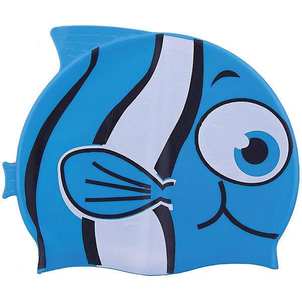 Шапочка для плавания силиконовая Рыбка, синяя, DobestОчки, маски, ласты, шапочки<br>Характеристики товара:<br><br>• материал: 100% силикон<br>• размер: универсальный<br>• страна-производитель: Китай <br>• упаковка: zip система с европодвесом<br><br>Защищает волосы от хлорированной воды и помогает избежать массу неудобств во время посещения бассейна. <br><br>Благодаря своей эластичности, шапочка удобно и плотно облегает голову, сохраняя волосы относительно сухими, подходит к любому размеру головы. <br><br>Ее легко одевать и снимать, так как она очень хорошо растягивается. <br><br>Силикон не вызывает аллергии и очень прост в уходе — после купания в бассейне шапочку достаточно просто прополоскать в пресной воде и высушить.<br><br>Шапочка для плавания силиконовая Рыбка можно купить в нашем интернет-магазине.<br>Ширина мм: 125; Глубина мм: 210; Высота мм: 10; Вес г: 65; Возраст от месяцев: 36; Возраст до месяцев: 2147483647; Пол: Унисекс; Возраст: Детский; SKU: 5574458;
