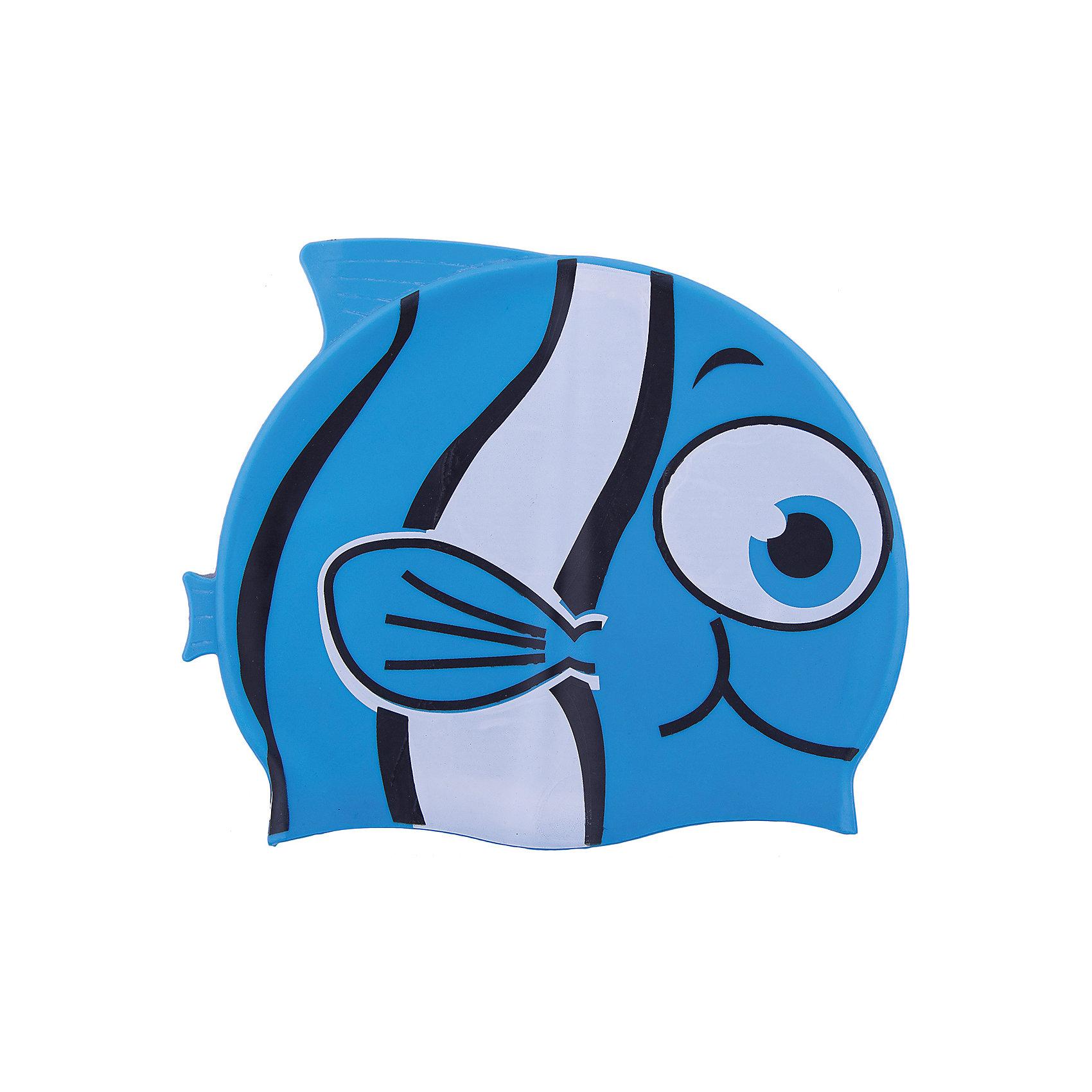 Шапочка для плавания силиконовая Рыбка, синяя, DobestОчки, маски, ласты, шапочки<br>Характеристики товара:<br><br>• материал: 100% силикон<br>• размер: универсальный<br>• страна-производитель: Китай <br>• упаковка: zip система с европодвесом<br><br>Защищает волосы от хлорированной воды и помогает избежать массу неудобств во время посещения бассейна. <br><br>Благодаря своей эластичности, шапочка удобно и плотно облегает голову, сохраняя волосы относительно сухими, подходит к любому размеру головы. <br><br>Ее легко одевать и снимать, так как она очень хорошо растягивается. <br><br>Силикон не вызывает аллергии и очень прост в уходе — после купания в бассейне шапочку достаточно просто прополоскать в пресной воде и высушить.<br><br>Шапочка для плавания силиконовая Рыбка можно купить в нашем интернет-магазине.<br><br>Ширина мм: 125<br>Глубина мм: 210<br>Высота мм: 10<br>Вес г: 65<br>Возраст от месяцев: 36<br>Возраст до месяцев: 2147483647<br>Пол: Унисекс<br>Возраст: Детский<br>SKU: 5574458
