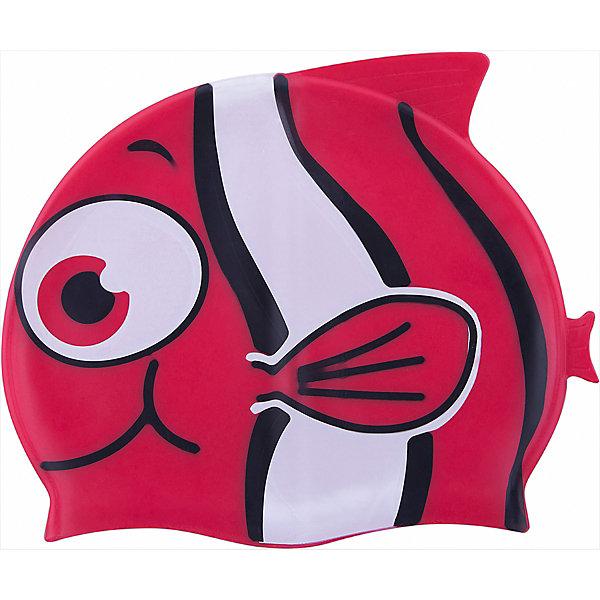 Шапочка для плавания силиконовая Рыбка, красная, DobestОчки, маски, ласты, шапочки<br>Характеристики товара:<br><br>• материал: 100% силикон<br>• размер: универсальный<br>• страна-производитель: Китай <br>• упаковка: zip система с европодвесом<br><br>Защищает волосы от хлорированной воды и помогает избежать массу неудобств во время посещения бассейна. <br><br>Благодаря своей эластичности, шапочка удобно и плотно облегает голову, сохраняя волосы относительно сухими, подходит к любому размеру головы. <br><br>Ее легко одевать и снимать, так как она очень хорошо растягивается. <br><br>Силикон не вызывает аллергии и очень прост в уходе — после купания в бассейне шапочку достаточно просто прополоскать в пресной воде и высушить.<br><br>Шапочка для плавания силиконовая Рыбка можно купить в нашем интернет-магазине.<br>Ширина мм: 125; Глубина мм: 210; Высота мм: 10; Вес г: 65; Возраст от месяцев: 36; Возраст до месяцев: 2147483647; Пол: Унисекс; Возраст: Детский; SKU: 5574459;