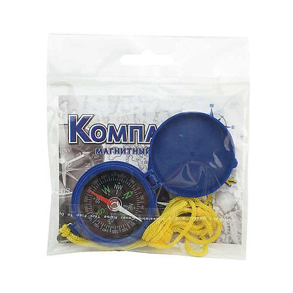 Компас магнитныйТуризм<br>Характеристики товара:<br><br>• материал: корпус - ABS-пластик, сталь, магнит; <br>• шнур - нейлон.<br>• вес: 19гр<br>• назначение:  для ориентирования на местности. <br>• страна-производитель: Китай<br>• упаковка: пакет с европодвесом<br><br>Небольшой туристический компас для ориентирования на местности. <br><br>Циферблат с магнитной стрелкой помещен в пластиковый корпус и защищен откидной крышкой. <br><br>Этот простой компас заполнен демпфирующей жидкостью, что обеспечивает возврат стрелки к спокойному состоянию. <br><br>Рекомендуем компас для повседневного использования туристам и поклонникам активного образа жизни.<br><br>Компас магнитный можно купить в нашем интернет-магазине.<br><br>Ширина мм: 30<br>Глубина мм: 100<br>Высота мм: 70<br>Вес г: 19<br>Возраст от месяцев: 96<br>Возраст до месяцев: 2147483647<br>Пол: Унисекс<br>Возраст: Детский<br>SKU: 5574463