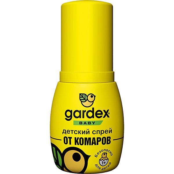 Спрей от комаров, с 1 года, 50 мл, Gardex BabyКосметика для малыша<br>Характеристики:<br><br>• Состав: IR3535, вода, пропиленгликоль, отдушки <br>• Форма средства: спрей<br>• Продолжительность действия: до 2-х часов<br>• Упаковка: флакон<br>• Объем: 50 мл<br>• Оснащен пульверизатором<br>• Не оставляет пятен на одежде<br>• Вес: 75 г<br>• Размеры (Д*Ш*В): 4,5*3,5*10,5 см<br>• Срок годности: 3 года <br><br>Спрей от комаров, с 1 года, 50 мл, Gardex Baby предназначен для защиты от укусов насемомых для детей от 1-го года. В состав репеллента входит инновационное действующее средство IR3535, которое безопасно для детей. <br><br>Спрей предназначен для нанесения на открытые участки кожи, при попадании на одежду не оставляет следов. Имеет увеличенную длительность защитного воздействия – до 2-х часов. <br><br>Средство выполнено в удобном пластиковом флаконе с пульверизатором, за счет чего оно экономно расходуется. Имеет компактный размер и не занимает много места в сумке или детском рюкзаке.<br><br>Спрей от комаров, с 1 года, 50 мл, Gardex Baby можно купить в нашем интернет-магазине.<br><br>Ширина мм: 45<br>Глубина мм: 35<br>Высота мм: 105<br>Вес г: 75<br>Возраст от месяцев: 12<br>Возраст до месяцев: 2147483647<br>Пол: Унисекс<br>Возраст: Детский<br>SKU: 5575714
