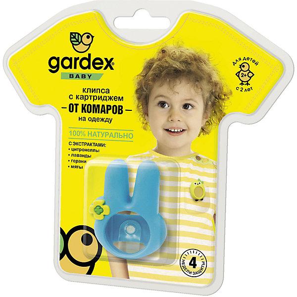 Клипса с картриджем от комаров, с 2-х лет, Gardex BabyКосметика для малыша<br>Характеристики:<br><br>• Форма средства: браслет<br>• Состав: эфирные масла (цитронелловое, лавандовое, гераниевое, мятное)<br>• Материал корпуса: пластик<br>• Использовать: до 6-ти часов<br>• Съемные картриджи – 3 шт <br>• Упаковка: блистер на картонной подложке<br>• Вес: 30 г<br>• Размеры (Д*Ш*В): 15,5*14,5*5 см<br>• Срок годности: 4 недели<br><br>Клипса с картриджем от комаров, с 2-х лет, Gardex Baby предназначена для защиты от укусов насемомых для детей от 2-х лет. Клипса надежно крепится к одежде. В состав репеллента входят натуральные эфирные масла, которые безопасны для детей. <br><br>Корпус клипсы выполнен из нетоксичного пластика, имеет яркий цвет. В клипсу вставляется предусмотренный в комплекте картридж. Длительность непрерывного использования не должна превышать 6-ти часов.<br><br>Клипсу с картриджем от комаров, с 2-х лет, Gardex Baby можно купить в нашем интернет-магазине.<br><br>Ширина мм: 155<br>Глубина мм: 145<br>Высота мм: 50<br>Вес г: 30<br>Возраст от месяцев: 24<br>Возраст до месяцев: 2147483647<br>Пол: Унисекс<br>Возраст: Детский<br>SKU: 5575718