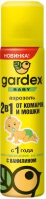 Аэрозоль от комаров и мошек, с 1 года, Gardex Baby