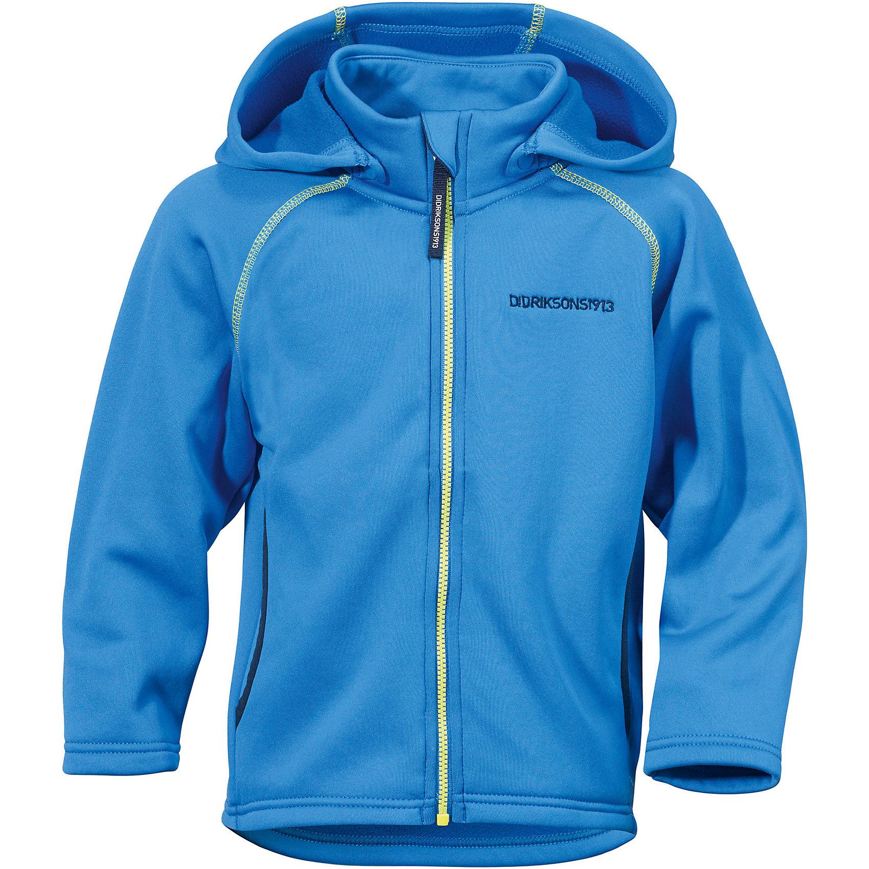 Толстовка BAWAL для мальчика DIDRIKSONSТолстовки<br>Куртка из гладкого флиса.  Мягкий и комфортный флис обладает хорошими теплоизоляционными свойствами, которые сохраняются даже во влажном состоянии. Этот материал прост в уходе (допускается стирка в машине). Съемный капюшон. Весной и летом эта модель будет работать как самостоятельная верхняя одежда, а в ненастную погоду ее можно использовать как утепляющий слой под водонепроницаемую верхнюю одежду.<br>Состав:<br>95% полиэстер, эластан 5%<br><br>Ширина мм: 356<br>Глубина мм: 10<br>Высота мм: 245<br>Вес г: 519<br>Цвет: зеленый<br>Возраст от месяцев: 12<br>Возраст до месяцев: 18<br>Пол: Мужской<br>Возраст: Детский<br>Размер: 80,140,120,130,110,90,100<br>SKU: 5576749
