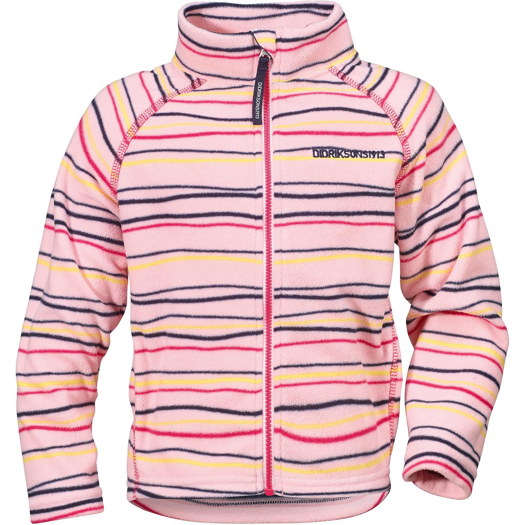 Толстовка MONTE KIDS PRINT для девочки DIDRIKSONSФлис и термобелье<br>Толстовка из тонкого флиса. Мягкий и комфортный флис обладает хорошими теплоизоляционными свойствами, которые сохраняются даже во влажном состоянии. Этот материал прост в уходе (допускается стирка в машине). Весной и летом эта модель будет работать как самостоятельная верхняя одежда, а в ненастную погоду ее можно использовать как утепляющий слой под водонепроницаемую верхнюю одежду.<br>Состав:<br>100% полиэстер<br><br>Ширина мм: 356<br>Глубина мм: 10<br>Высота мм: 245<br>Вес г: 519<br>Цвет: розовый<br>Возраст от месяцев: 12<br>Возраст до месяцев: 18<br>Пол: Женский<br>Возраст: Детский<br>Размер: 80,120,110,100,130,90<br>SKU: 5576839