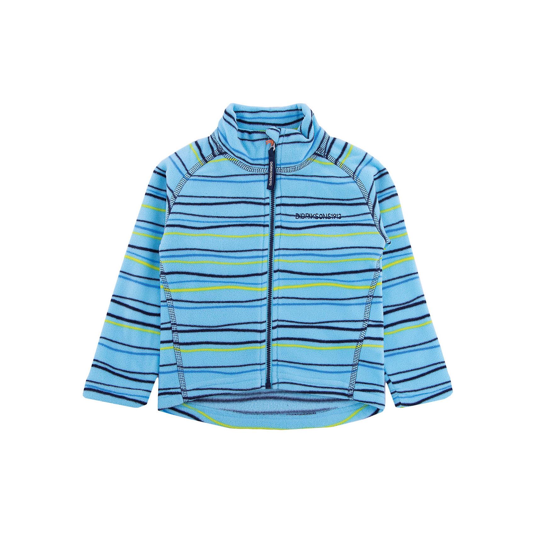 Толстовка MONTE KIDS PRINT для мальчика DIDRIKSONSТолстовки<br>Толстовка из тонкого флиса. Мягкий и комфортный флис обладает хорошими теплоизоляционными свойствами, которые сохраняются даже во влажном состоянии. Этот материал прост в уходе (допускается стирка в машине). Весной и летом эта модель будет работать как самостоятельная верхняя одежда, а в ненастную погоду ее можно использовать как утепляющий слой под водонепроницаемую верхнюю одежду.<br>Состав:<br>100% полиэстер<br><br>Ширина мм: 356<br>Глубина мм: 10<br>Высота мм: 245<br>Вес г: 519<br>Цвет: голубой<br>Возраст от месяцев: 72<br>Возраст до месяцев: 84<br>Пол: Мужской<br>Возраст: Детский<br>Размер: 120,110,90,100,80,130,140<br>SKU: 5576846
