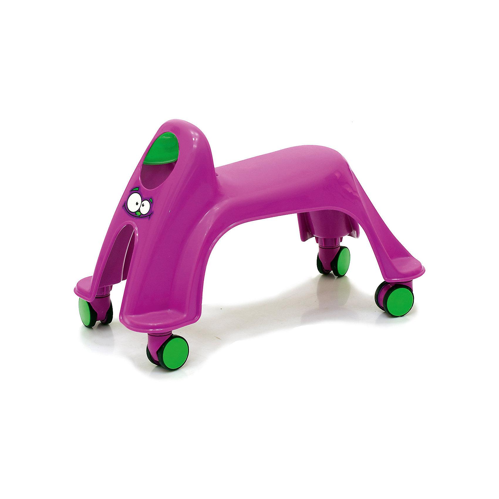 Каталка Smiley Neon Whirlee, фиолетоваяМашинки-каталки<br>Toy Monster Smiley Neon Whirlee - яркая, устойчивая каталка, выполненная таким образом, чтобы быть максимально безопасной и комфортной для малыша. У каталки отсутствуют острые углы и твердые травмоопасные детали. За счет естественной амортизации пластика малышу будет комфортно перемещаться на каталке. Модель не занимает много места, несколько каталок можно хранить пирамидкой. Яркая расцветка и оригинальный дизайн обязательно привлекут внимание малыша и подарят ему много положительных эмоций и улыбок. Каталка выполнена из прочных высококачественных материалов безопасных для детей.<br><br>Дополнительная информация:<br><br>- Материал: пластик.<br>- Размер: 44 х 29 х 22 см.<br>- Размер сиденья: 14 х 20 см.<br>- Цвет: фиолетовый.<br>- Максимальный вес ребенка: 27 кг<br><br>Каталку  Smiley Neon Whirlee, фиолетовую, можно купить в нашем магазине.<br><br>Ширина мм: 440<br>Глубина мм: 290<br>Высота мм: 220<br>Вес г: 1500<br>Возраст от месяцев: 12<br>Возраст до месяцев: 36<br>Пол: Унисекс<br>Возраст: Детский<br>SKU: 5576876